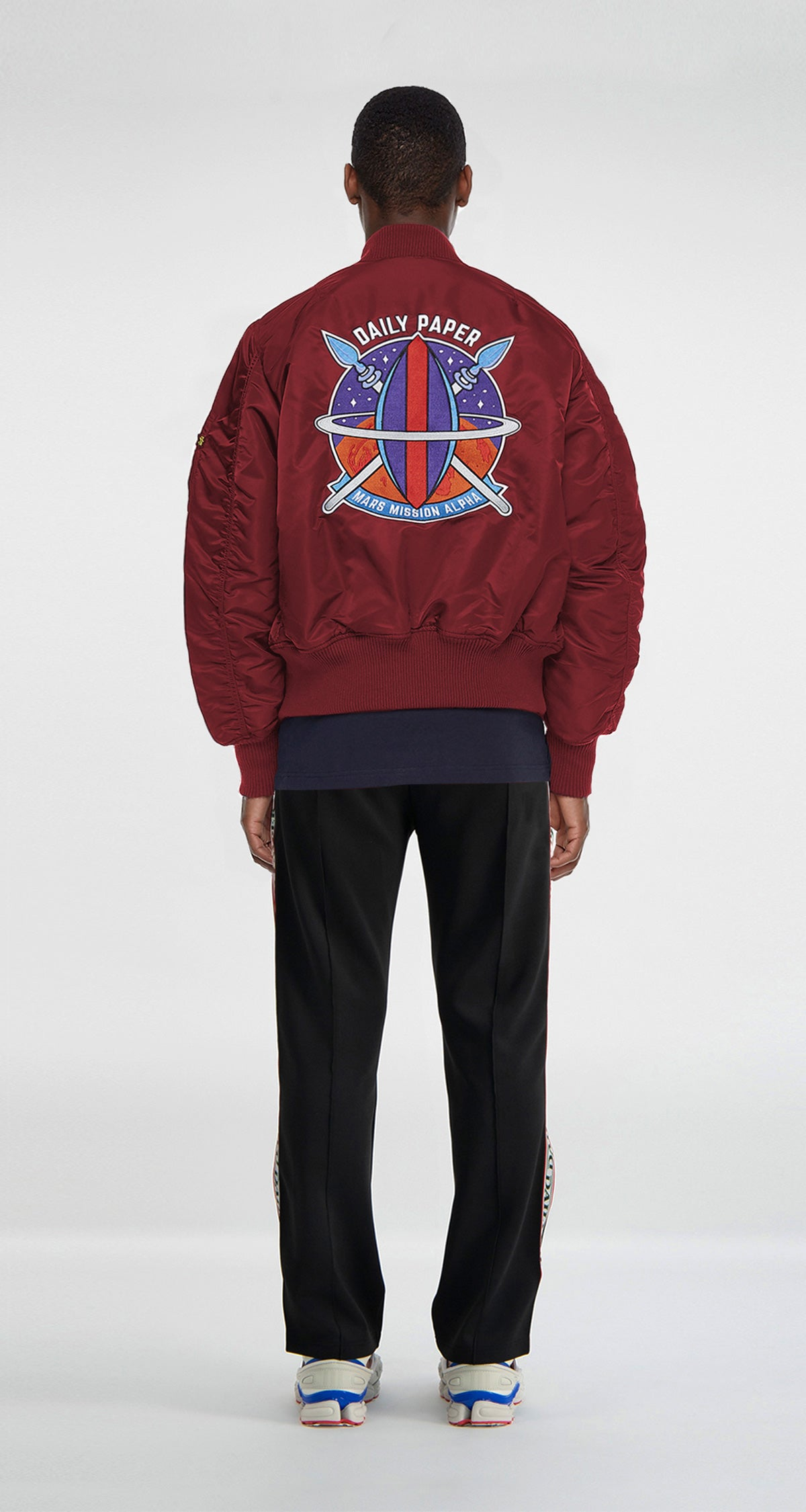 Burgundy MA-1 Space Bomber
