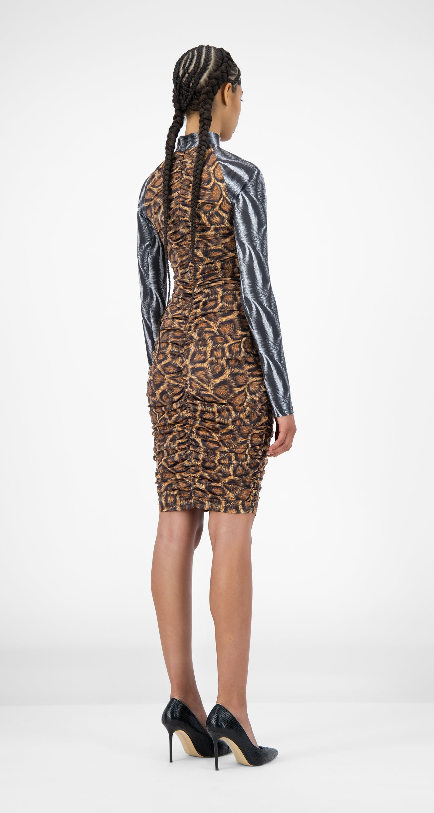 Daily Paper - Animal Print Jalila Dress - Women Rear