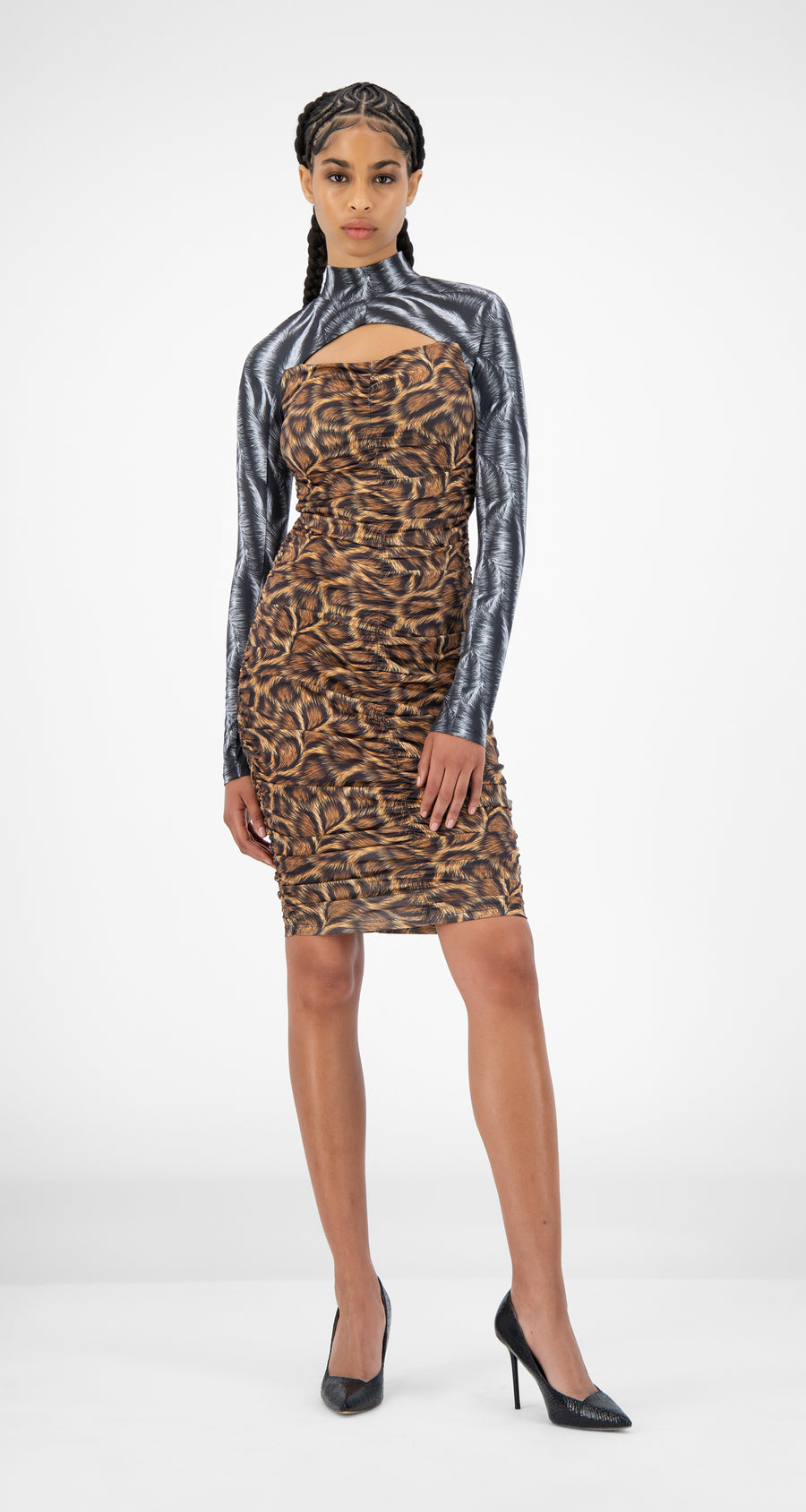 Daily Paper - Animal Print Jalila Dress - Women Front