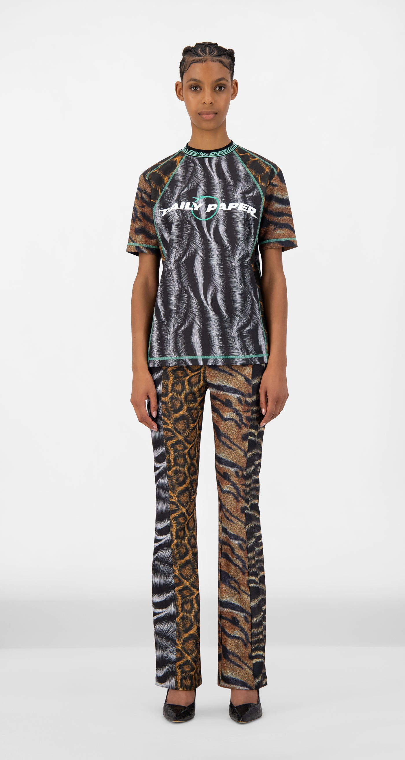 Daily Paper - Animal Print Judd T-Shirt - Women Front