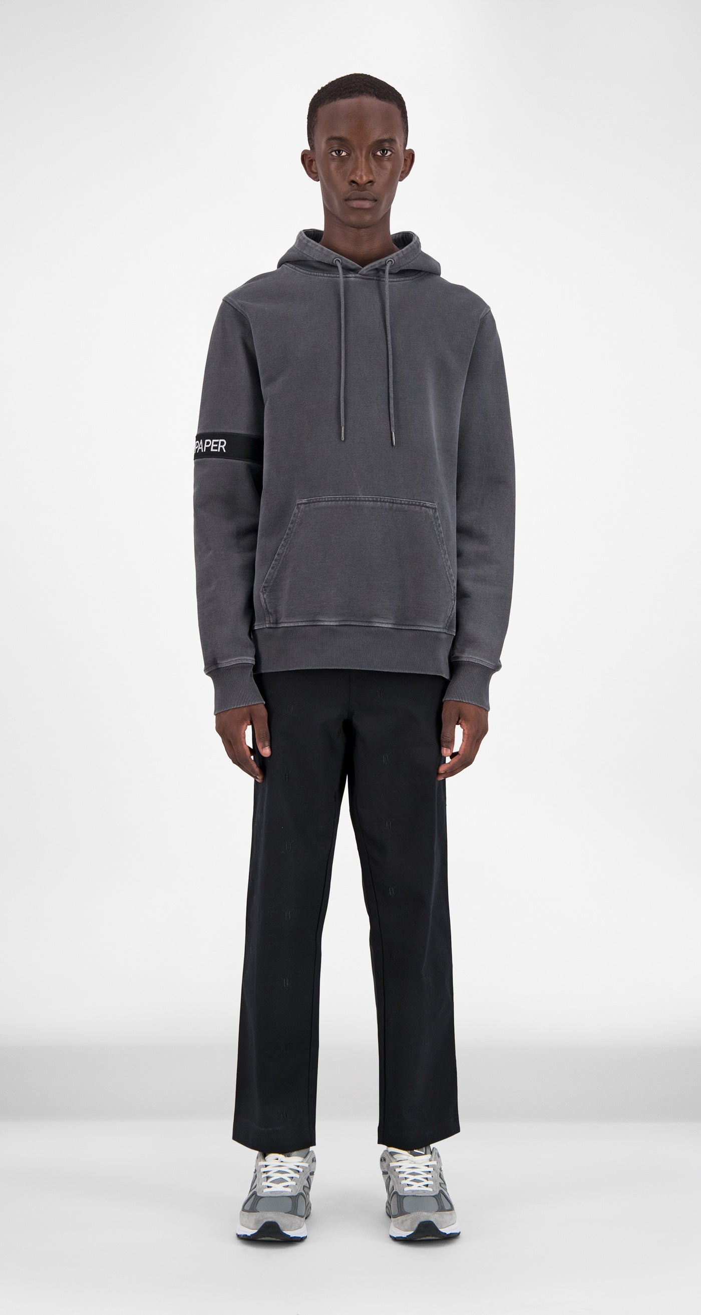 Anthracite Washed Captain Hoody - Men Front