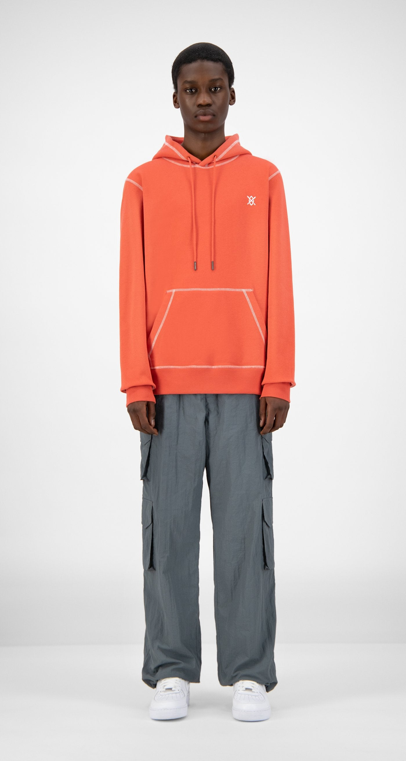 Daily Paper - Baked Orange Hoshield Hoody - Men Front