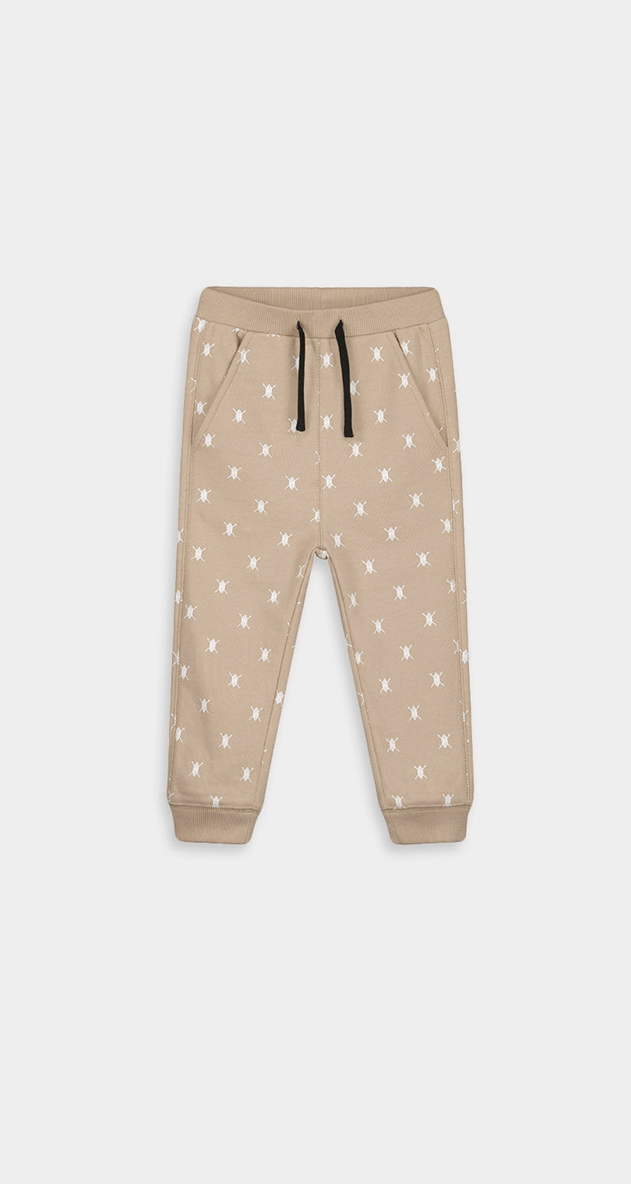 Daily Paper - Beige Baby Shield Logo Pants Baby - Front