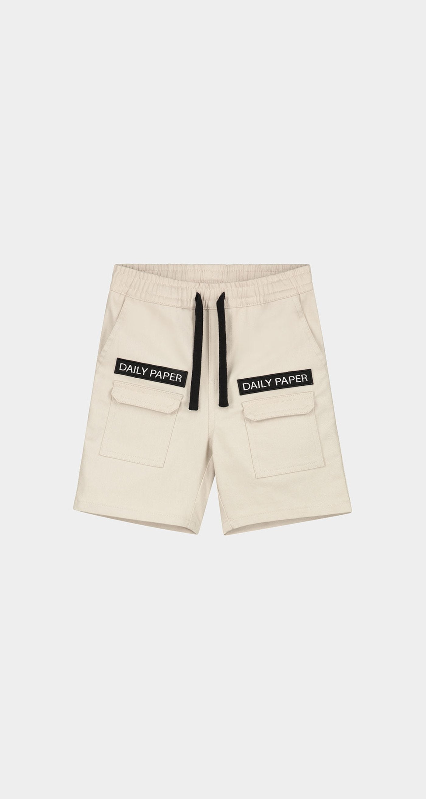 Daily Paper - Beige Kids Cargo Shorts - Front