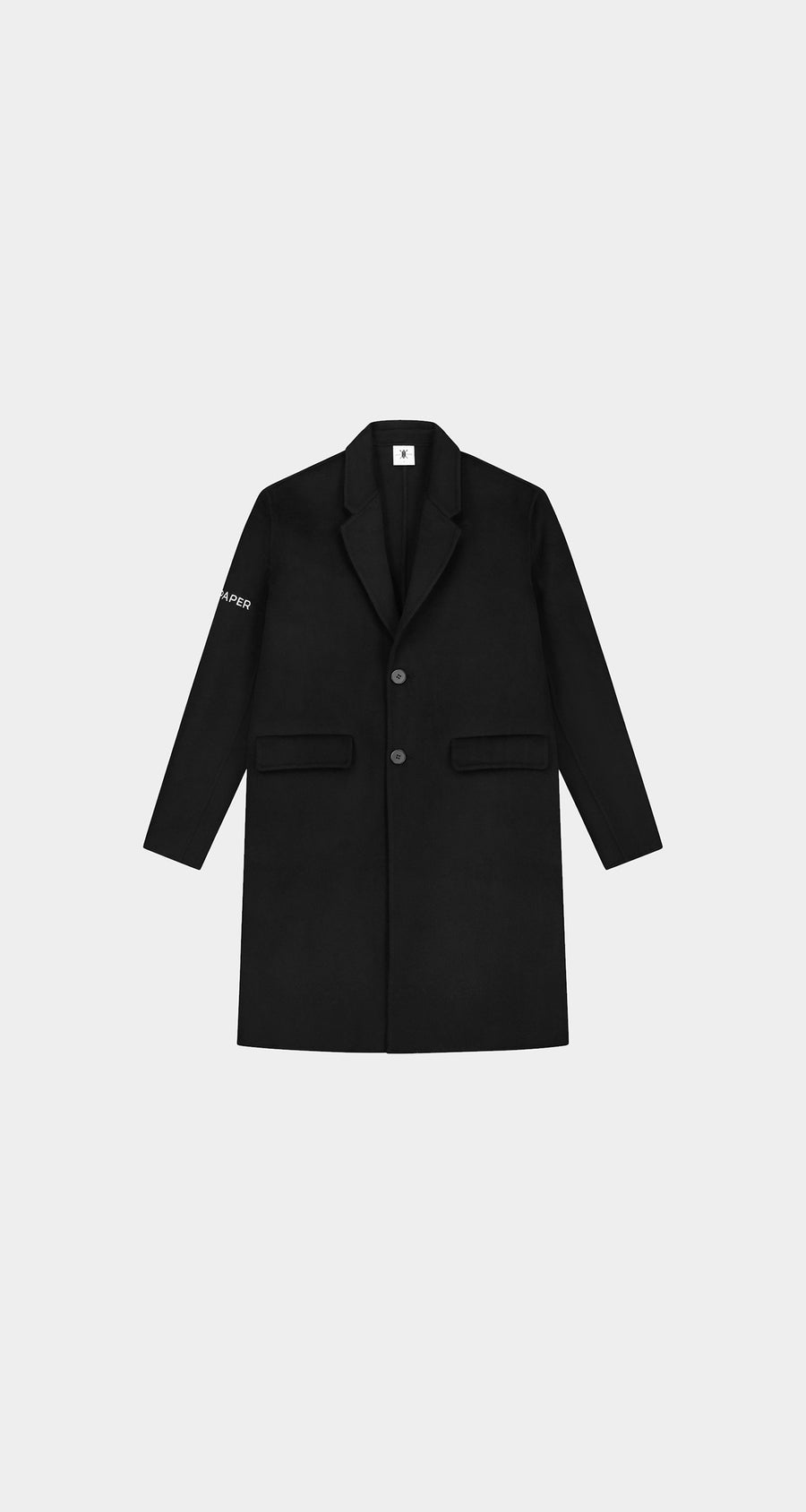 Daily Paper - Black Wool Captain Coat Men Front