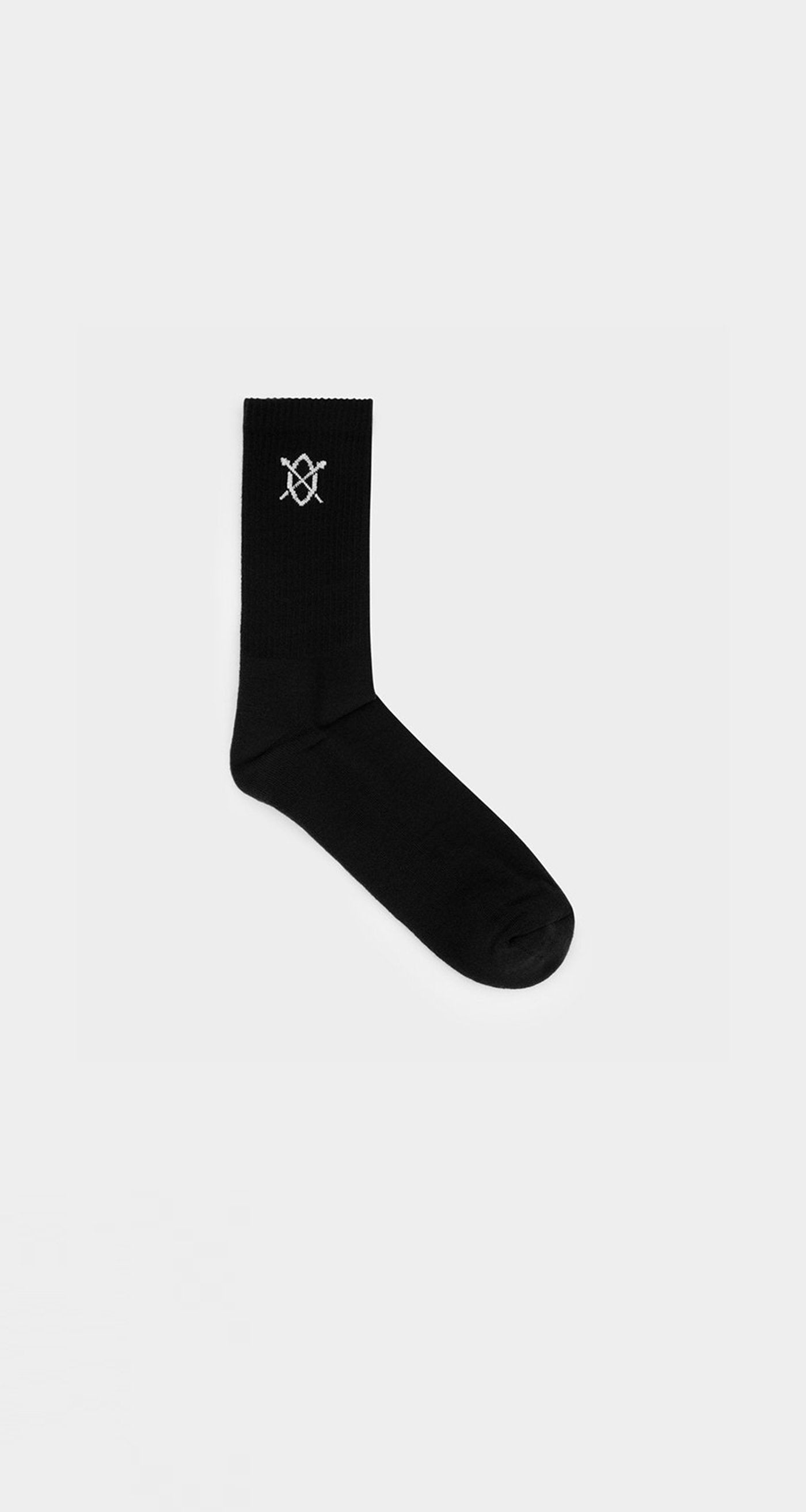 Daily Paper - Black Essential Logo Sock - Front