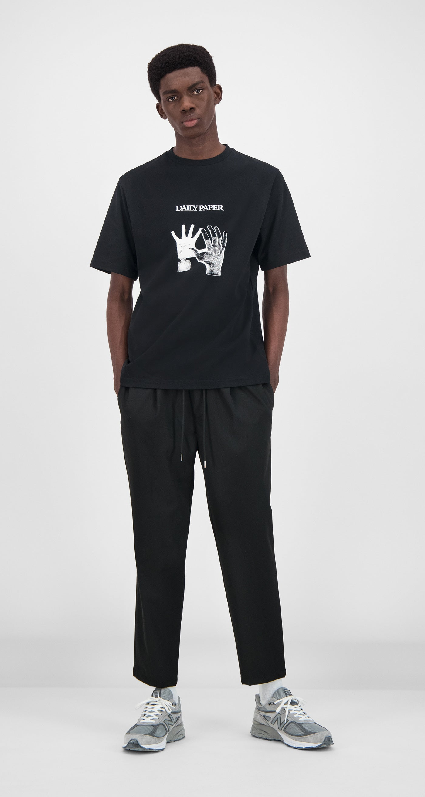 Daily Paper - Black Gorhand T-Shirt Men Front