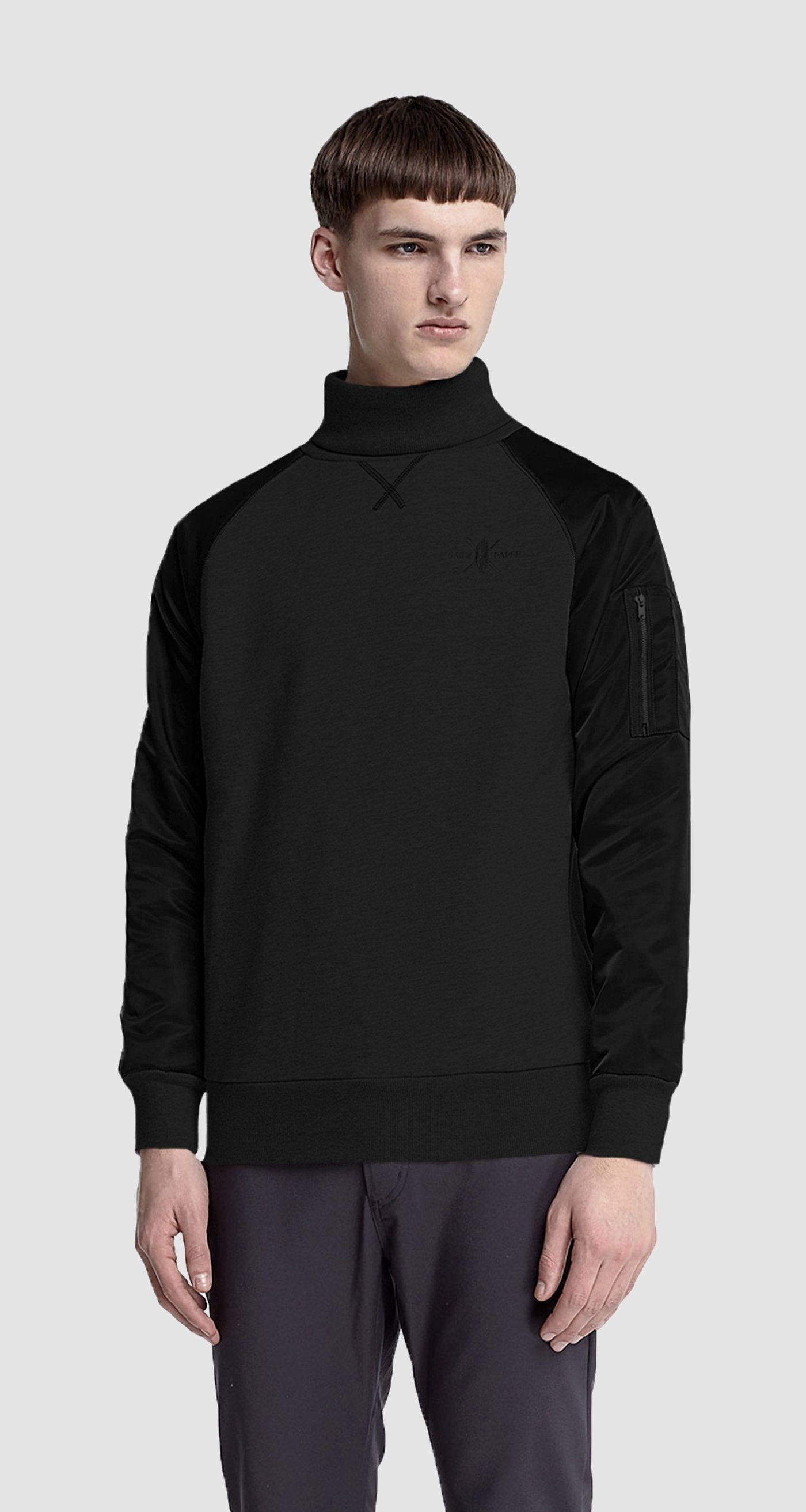 Black High Collar Sweater