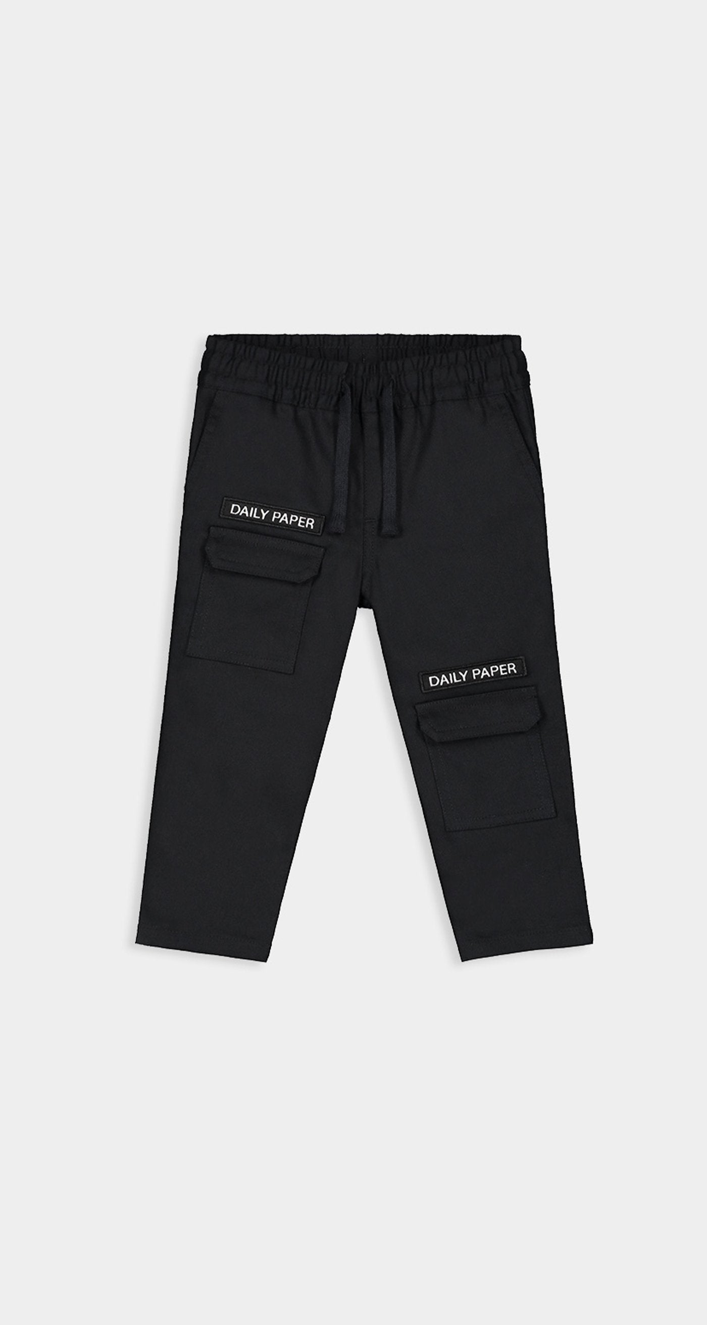 Daily Paper - Black Kids Cargo Shorts Front