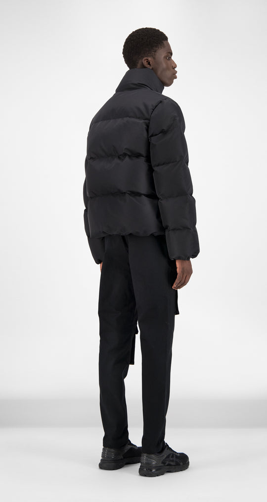 Daily Paper - Black Puffer Jacket Men Rear