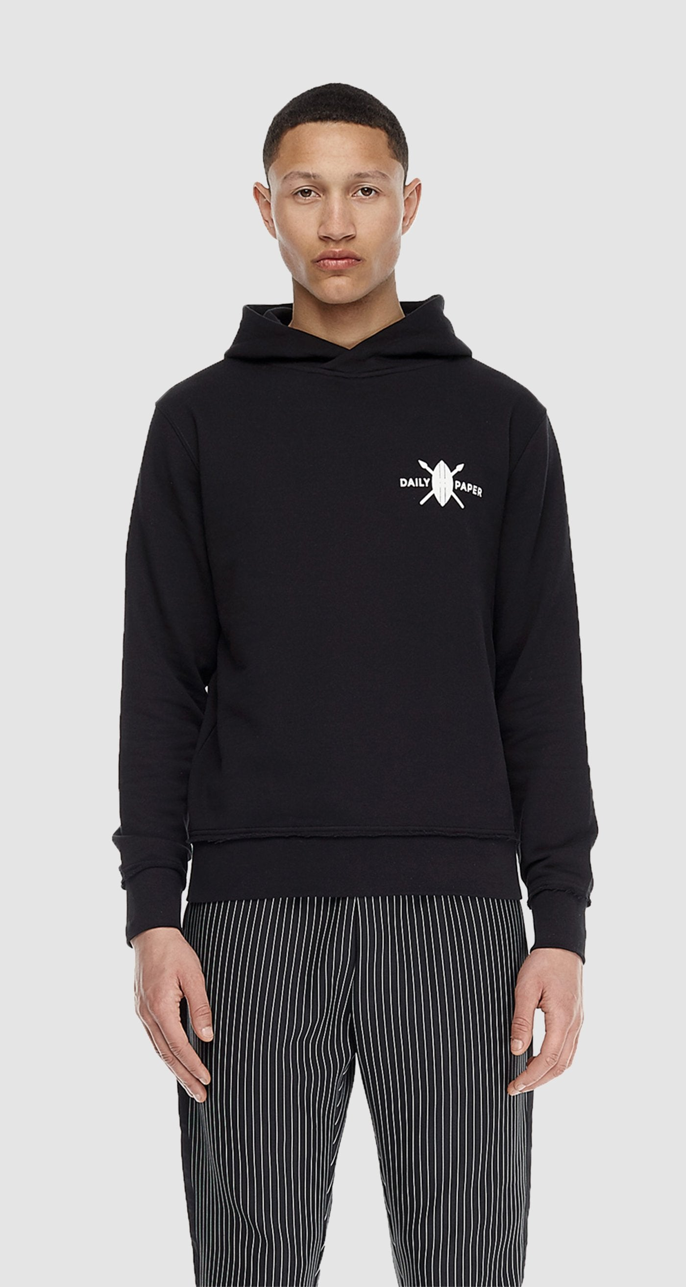 Black Shield Logo Hoody