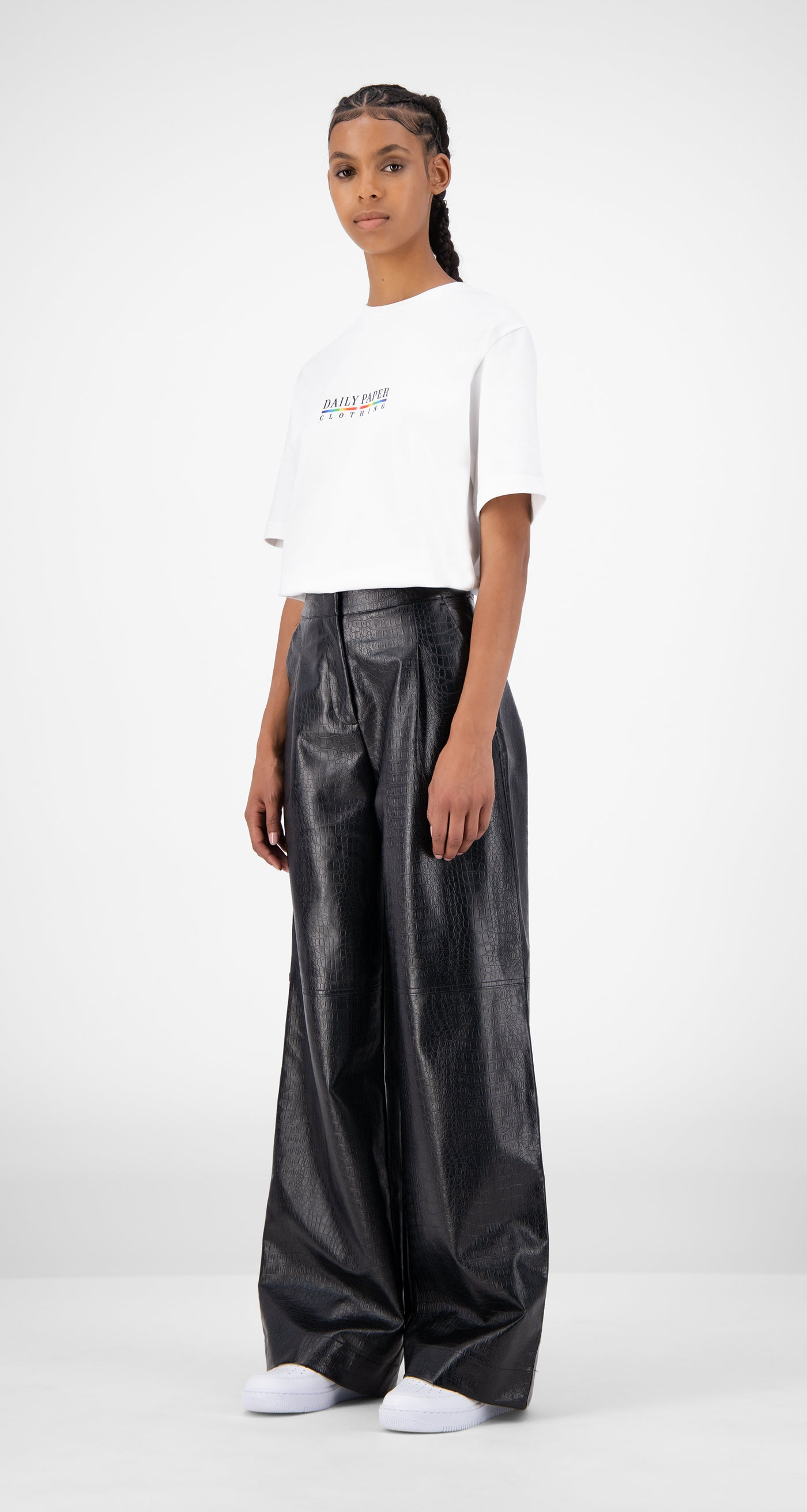 Daily Paper - Black Croco Jalla Pants - Women