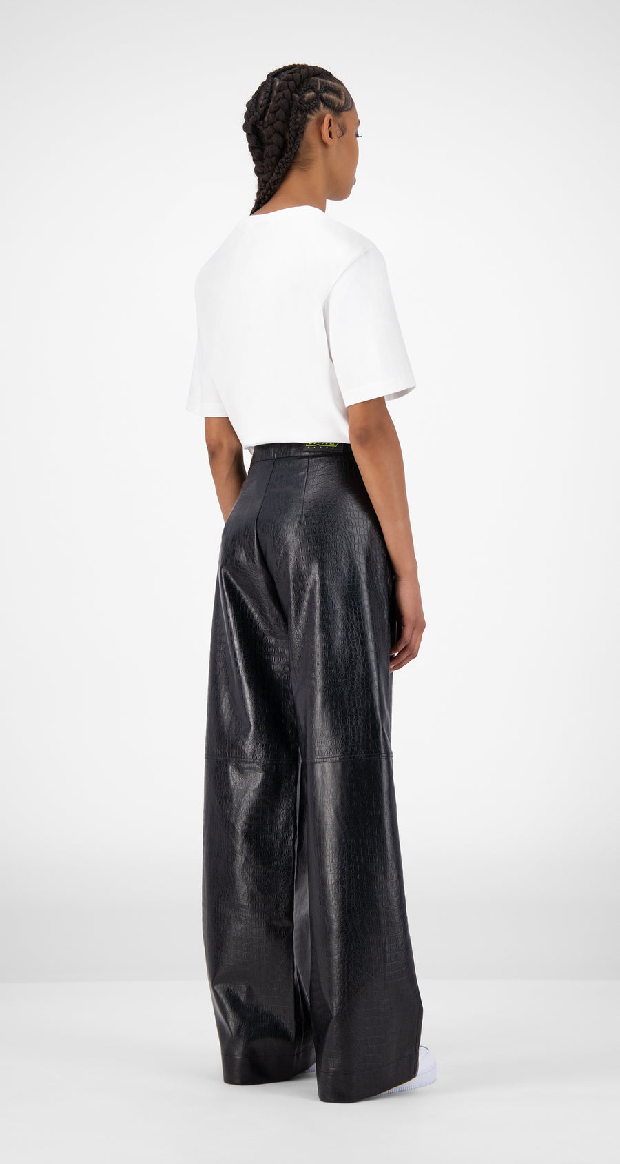Daily Paper - Black Croco Jalla Pants - Women Rear