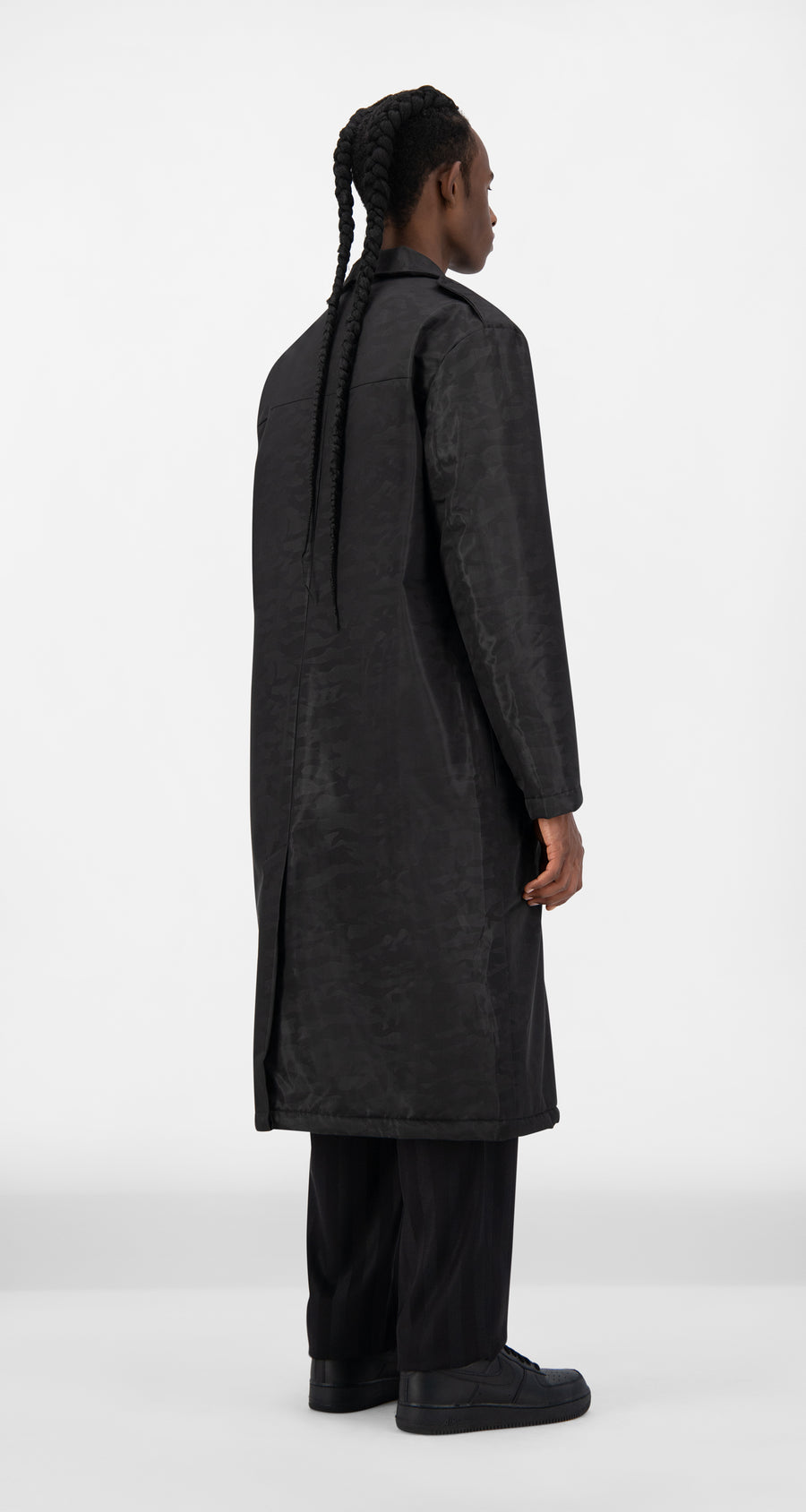 Daily Paper - Black Joel Coat - Men Rear