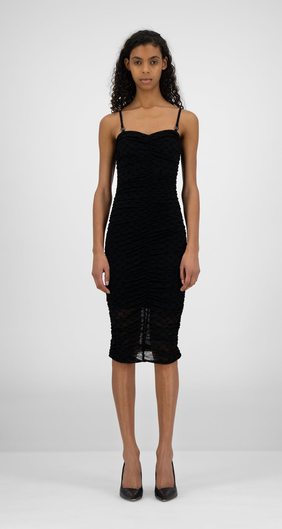 Daily Paper - Black Monogram Hola Dress - Women Front