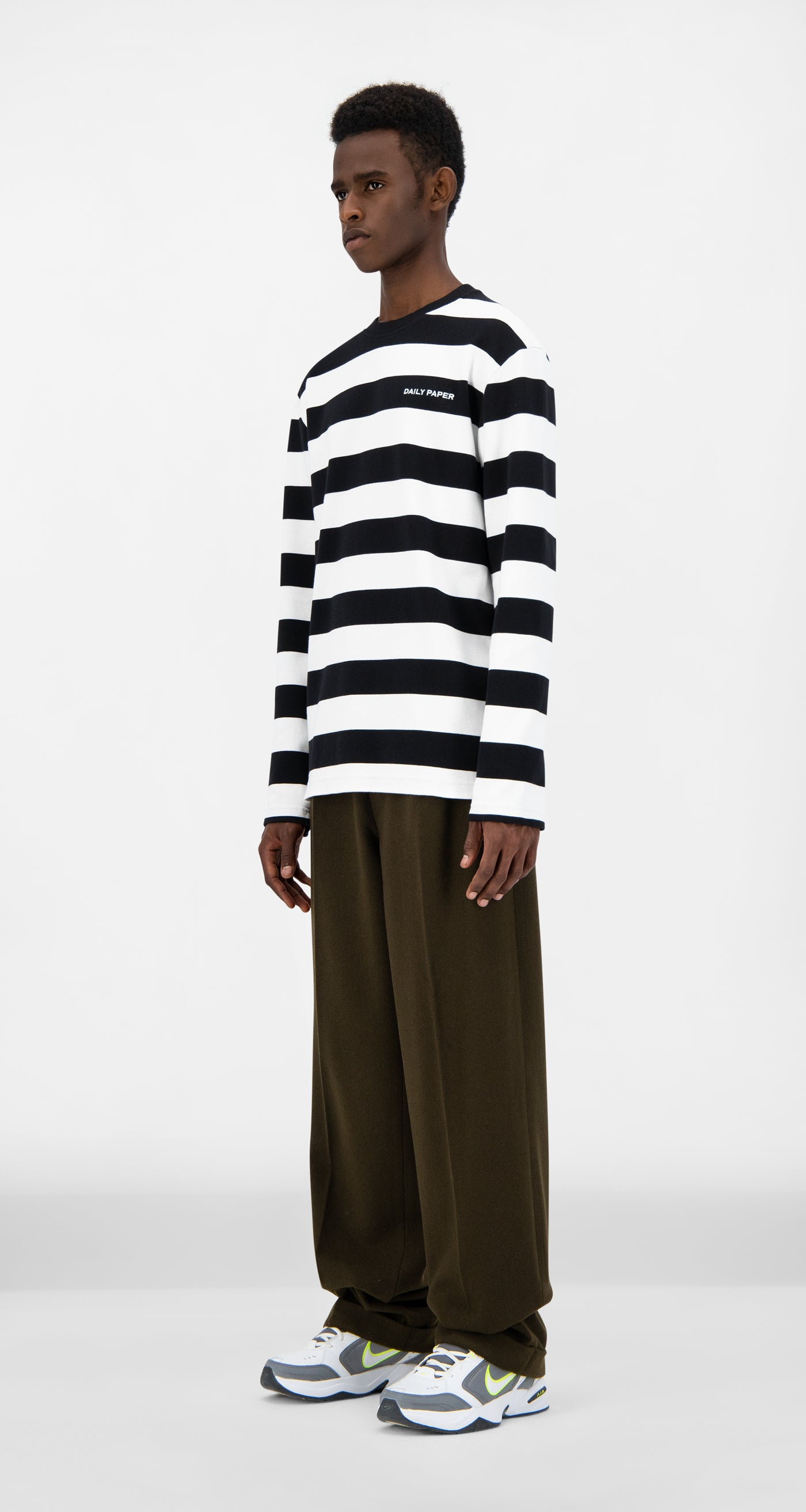 Daily Paper - Black Striped Pith Longsleeve - Men