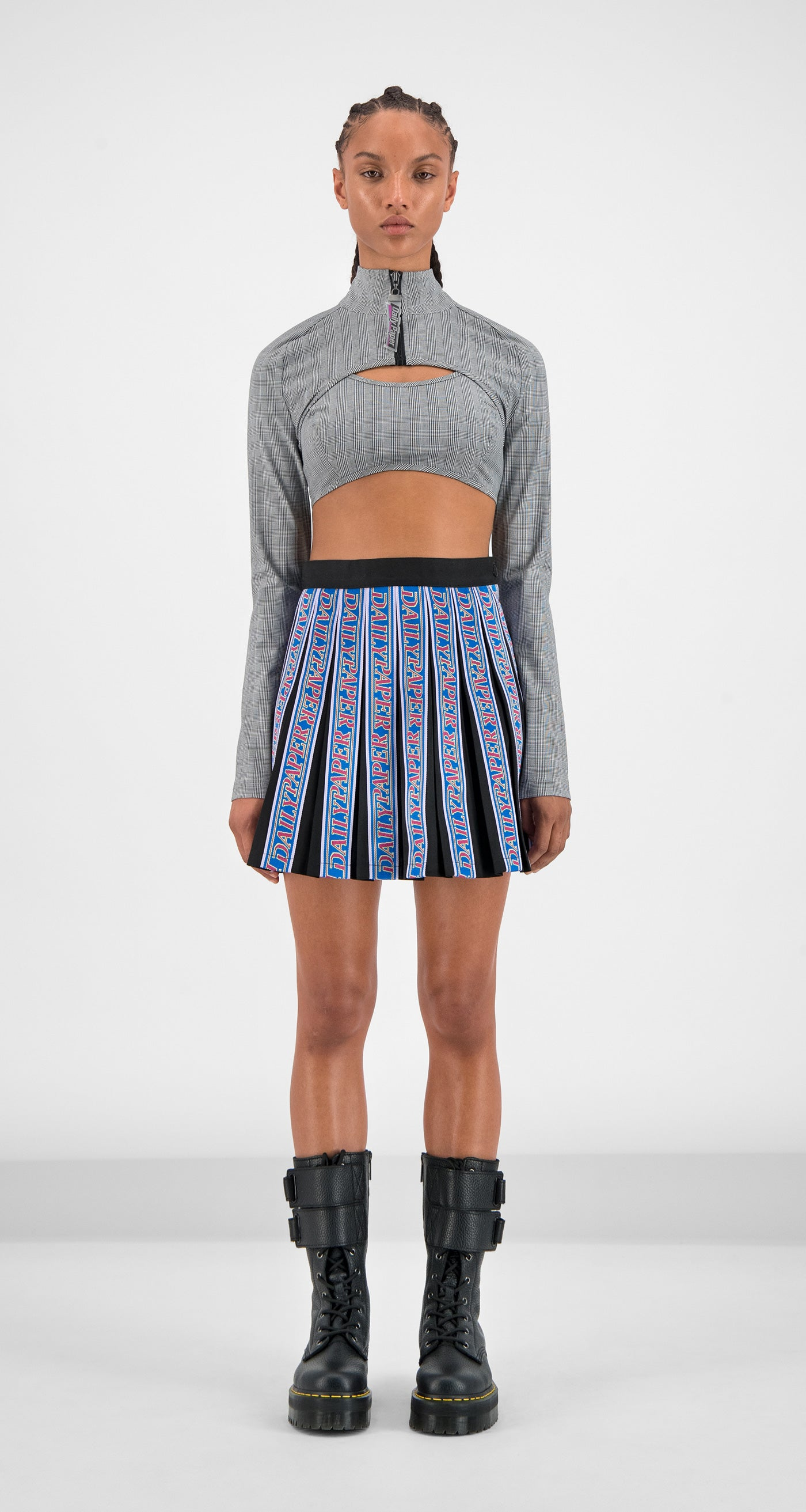 Daily Paper - Black Gara Tape Skirt Women