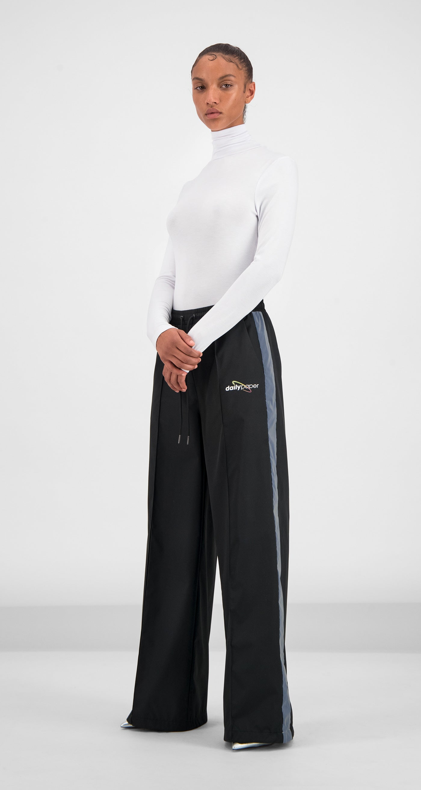 Daily Paper - Black Gifare Pants Women Front