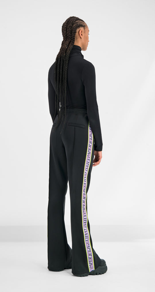 Daily Paper - Black Glair Tape Pants Women Rear