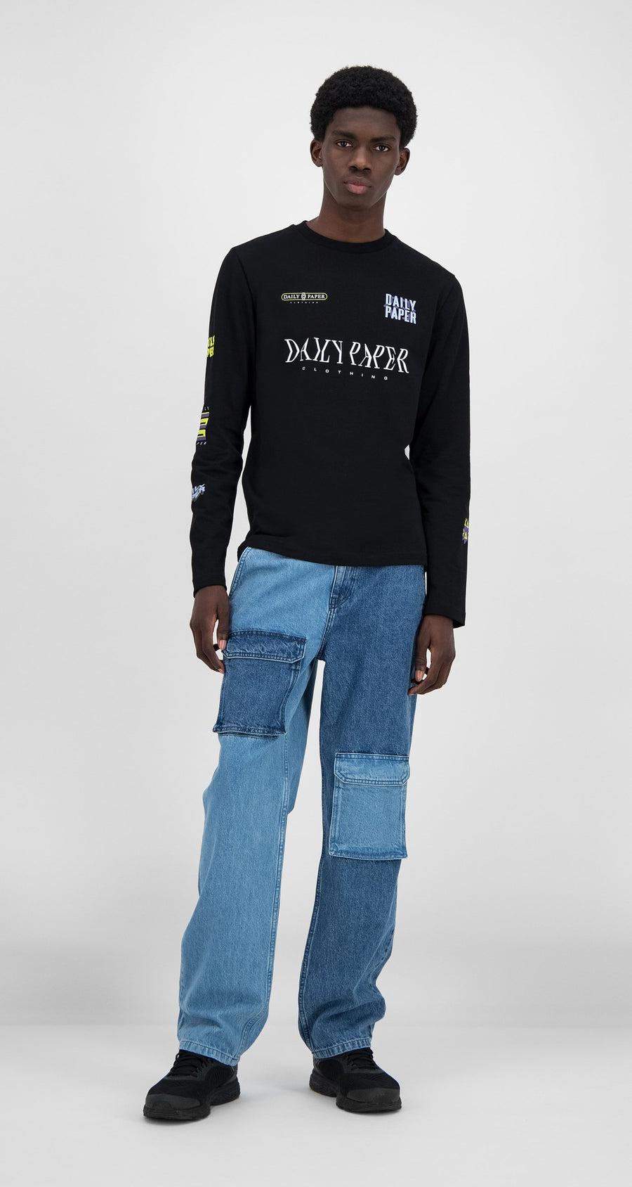 Daily Paper - Black Heff Longsleeve - Men Front