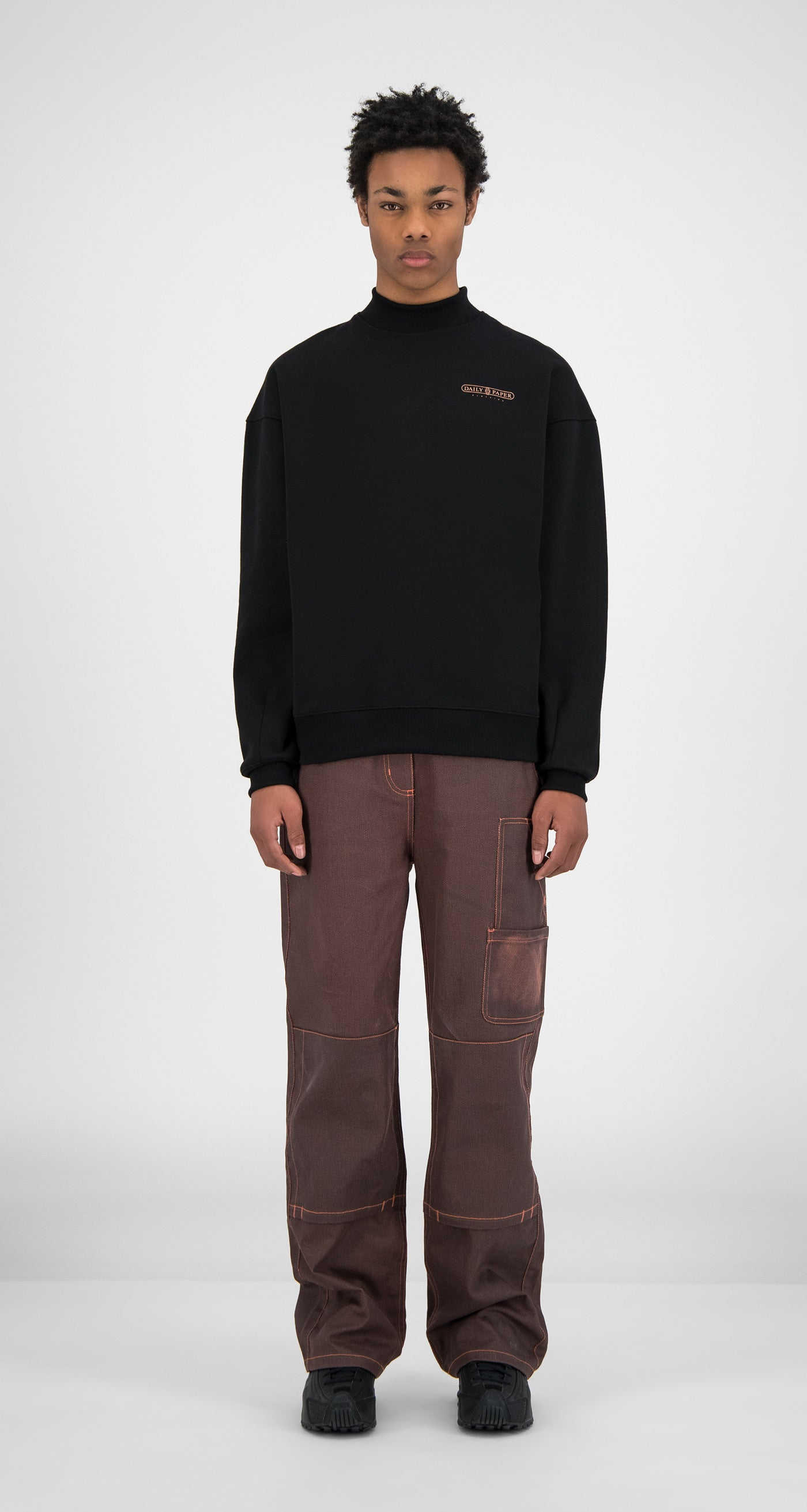 Daily Paper - Black Himbla Sweater - Men Front