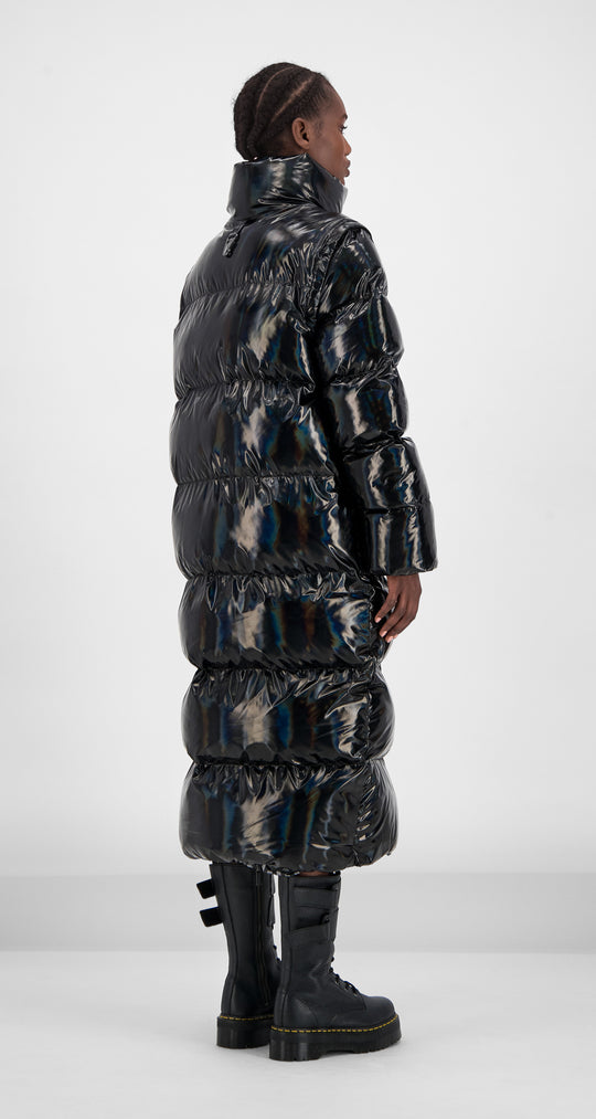 Daily Paper - Black Holographic Gubl Coat Women Rear