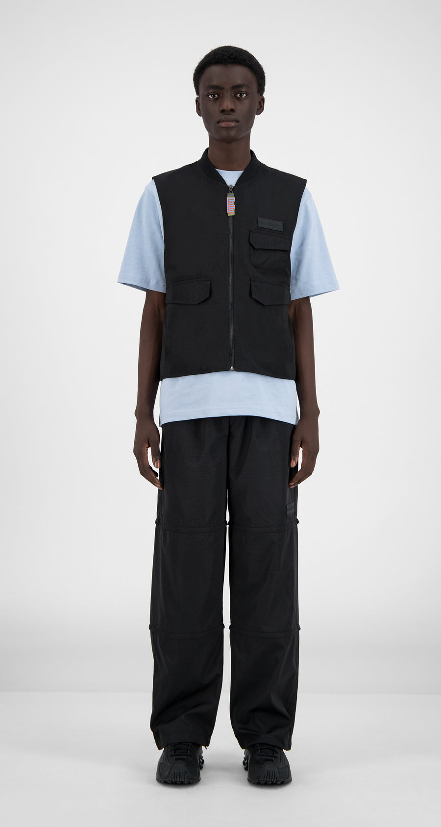 Daily Paper - Black Husam Vest - Men Front