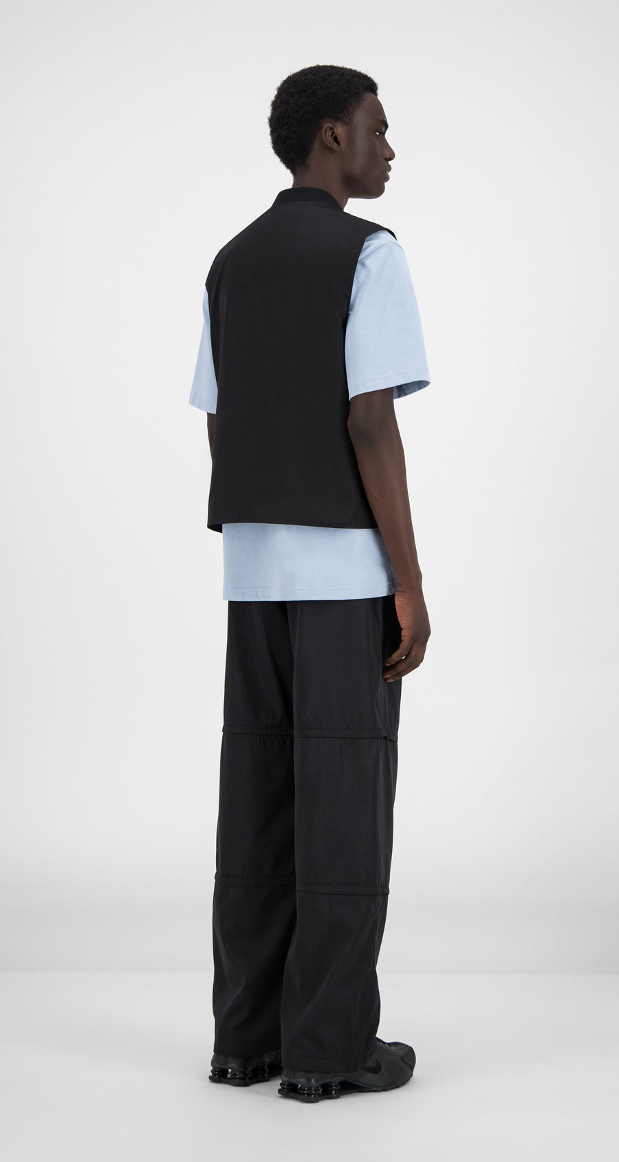 Daily Paper - Black Husam Vest - Men Rear