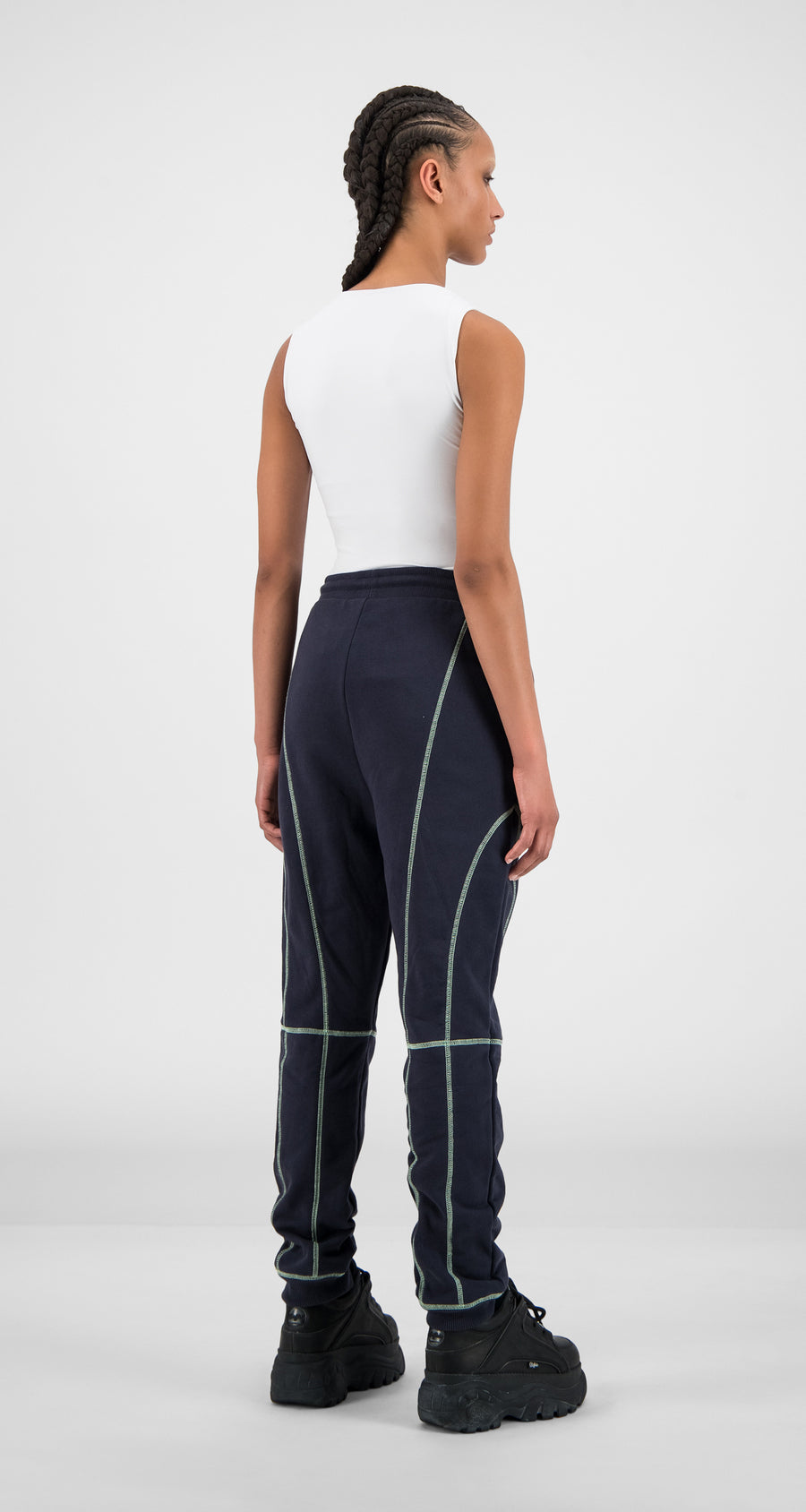 Daily Paper - Navy Iris Hakimblai Pants - Women Rear