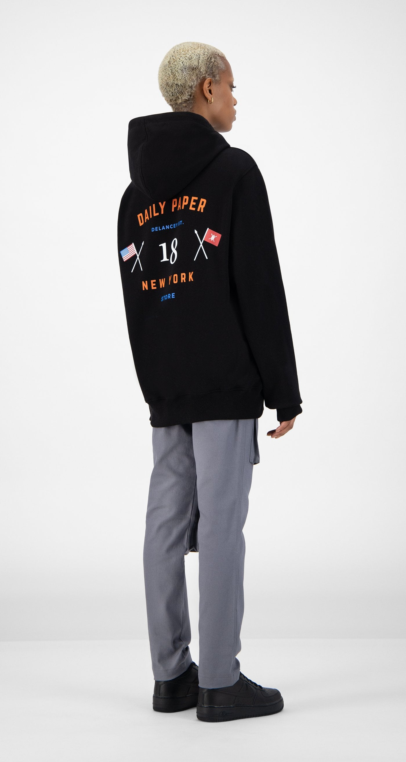 Daily Paper - Black NYC Store Hoody - Women Rear