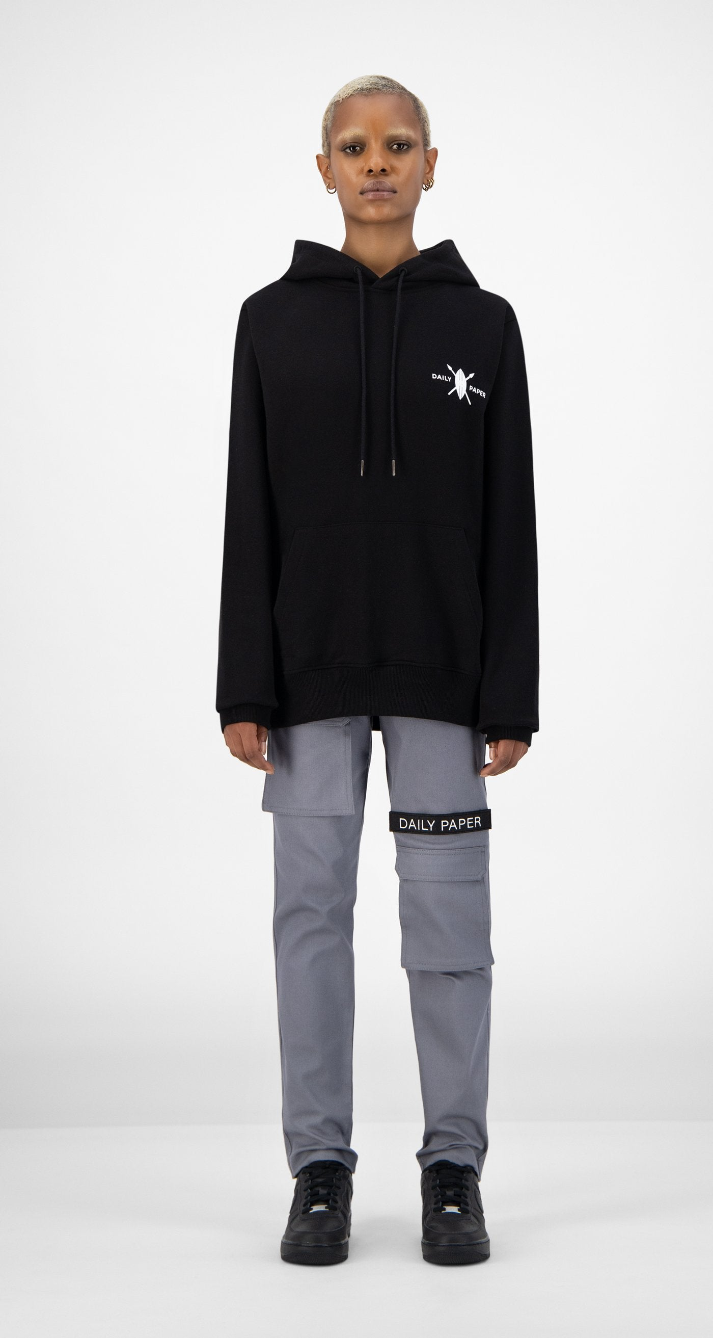 Daily Paper - Black NYC Store Hoody - Women Front