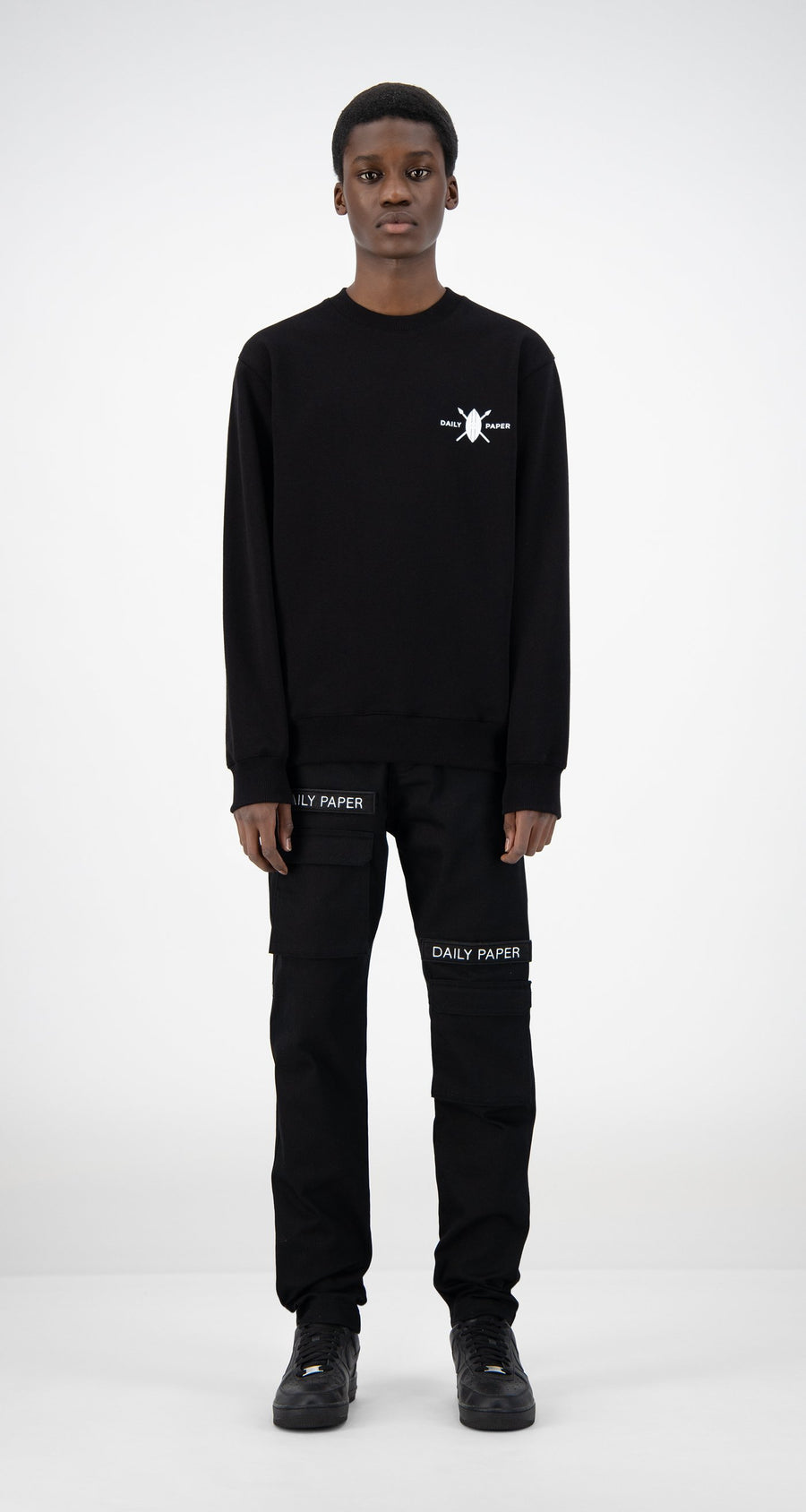 Daily Paper - Black NYC Store Sweater - Men Front