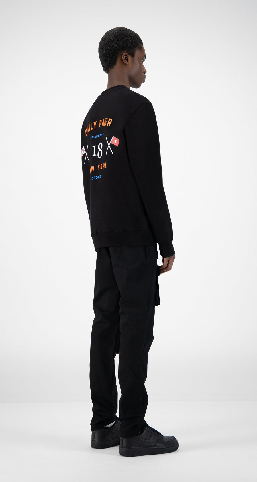 Daily Paper - Black NYC Store Sweater - Men Rear