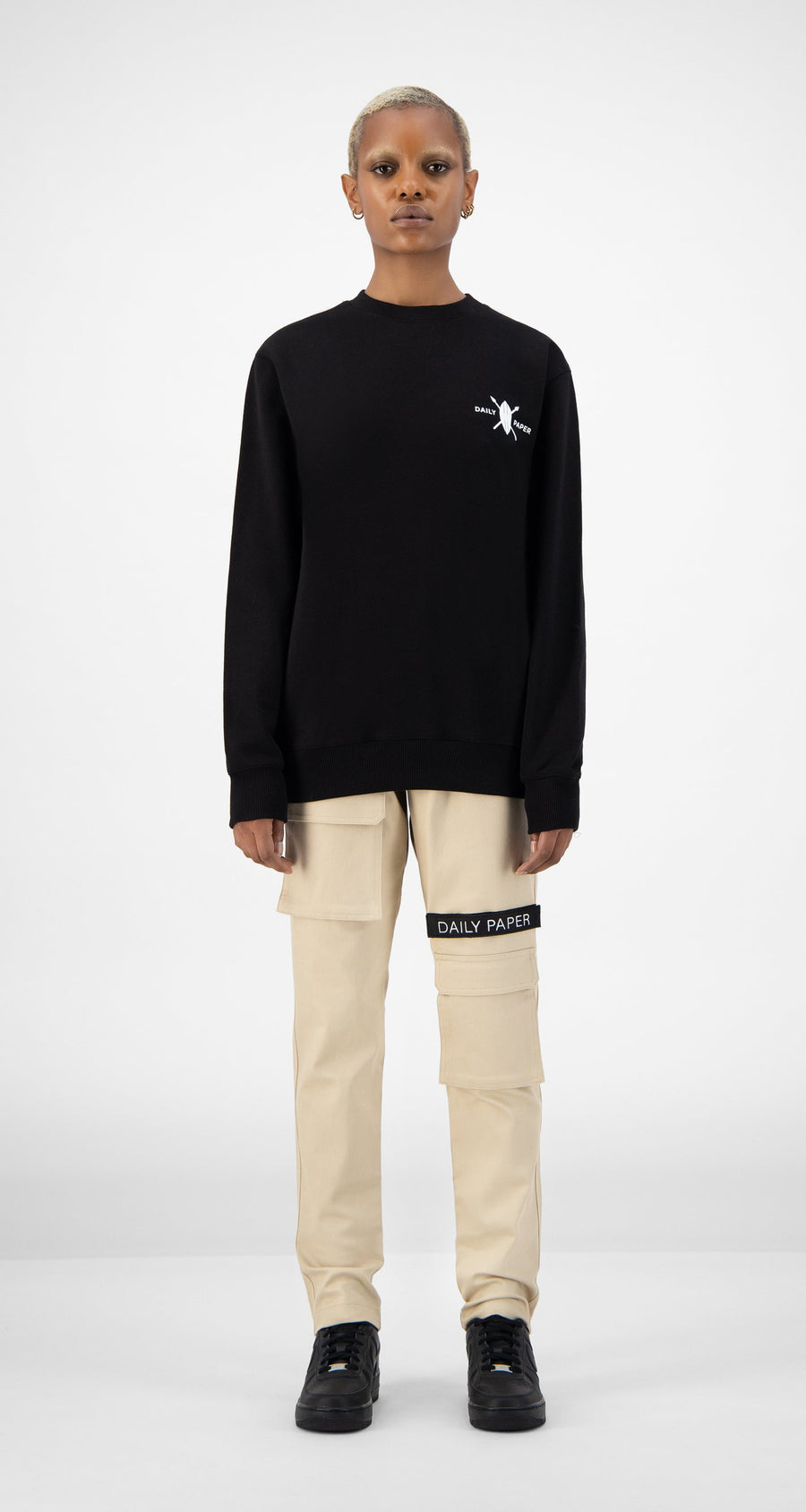 Daily Paper - Black NYC Store Sweater - Women Front