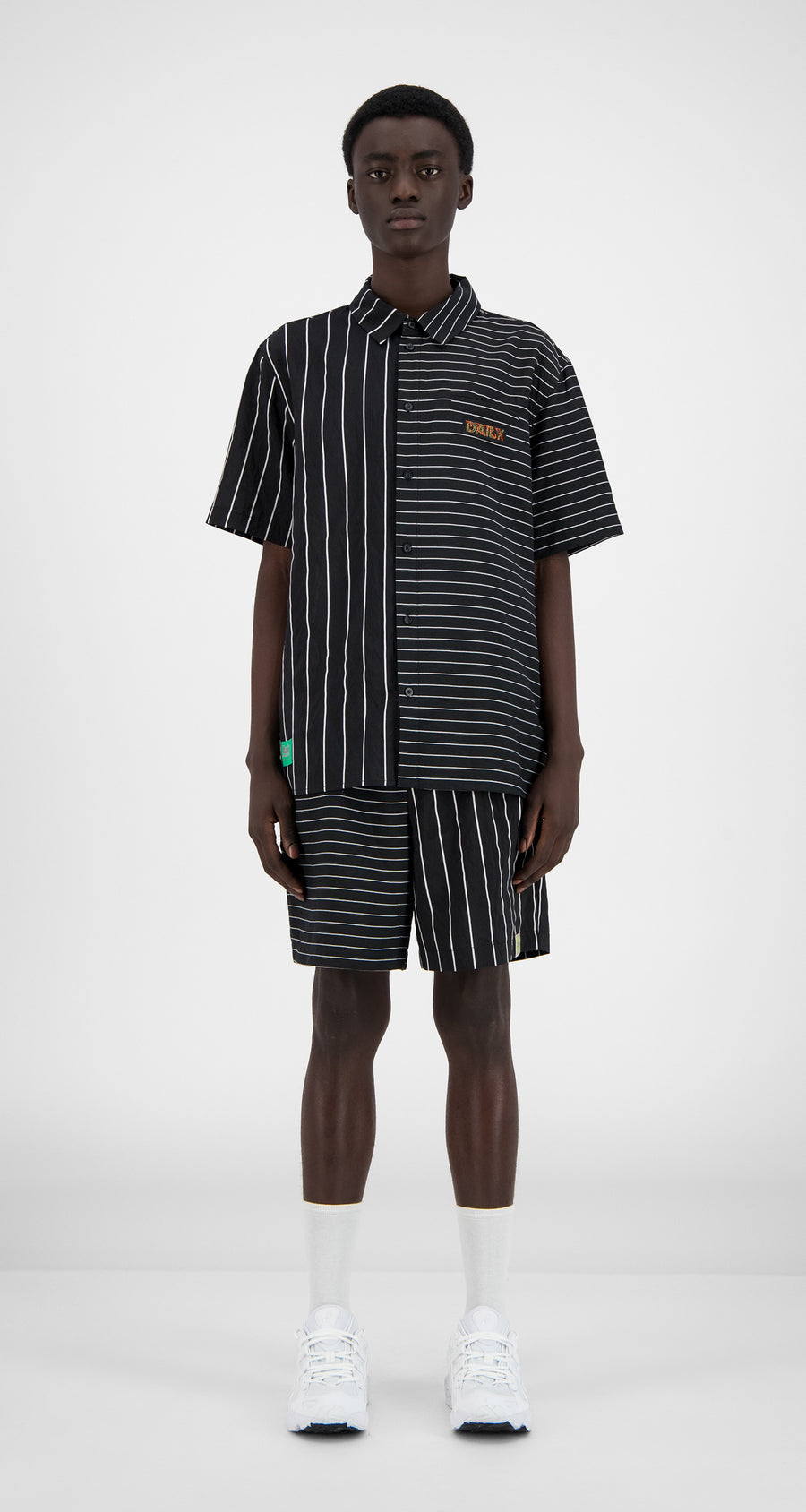 Daily Paper - Black Striped Hymie Shirt - Men Front