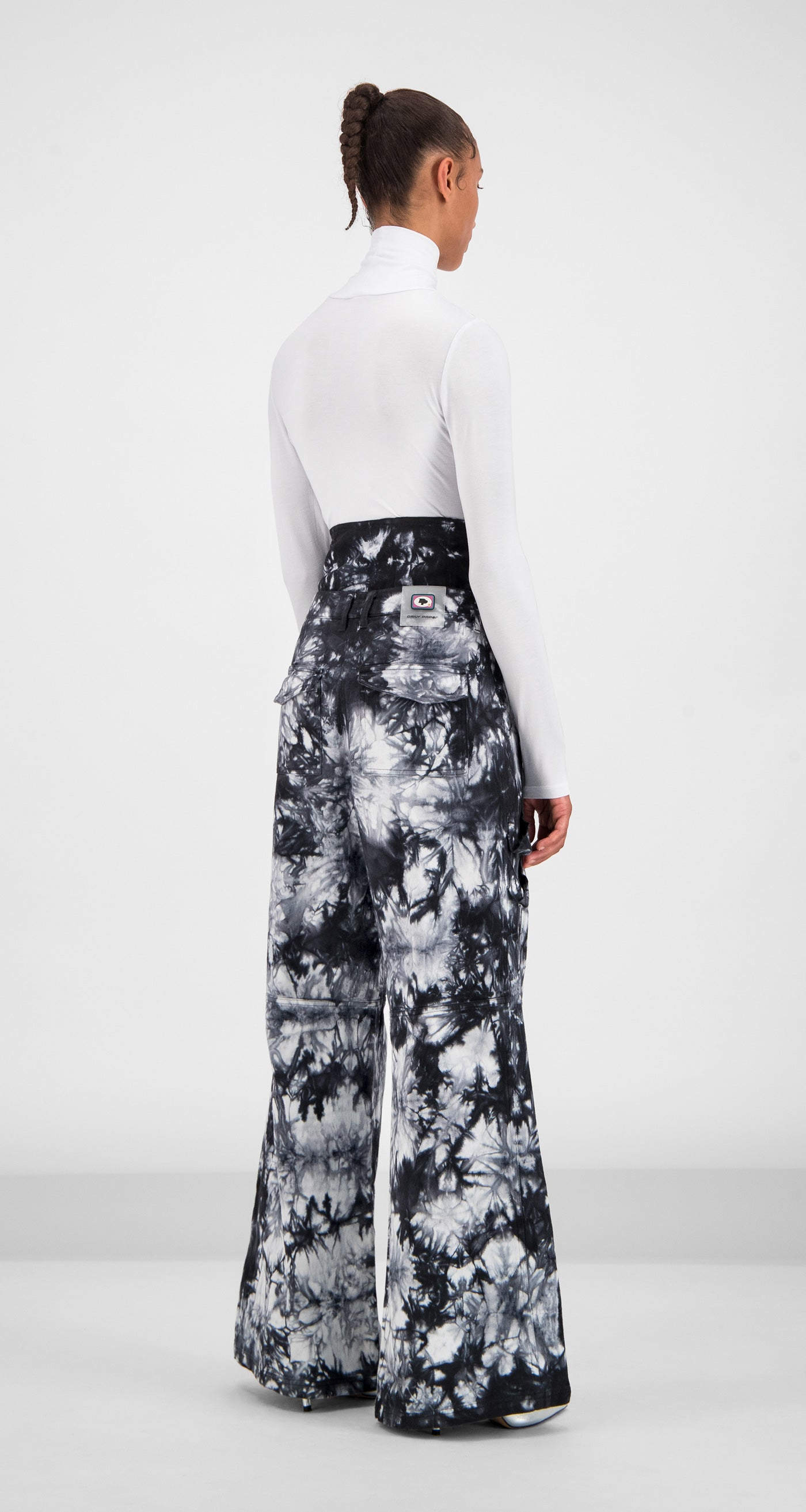 Daily Paper - Black White Tie Dye Gemma Pants Women Rear