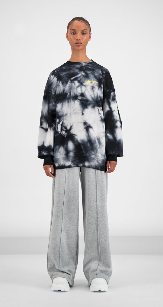 Daily Paper - Black White Tie Dye Gimtidy Sweater Women Front