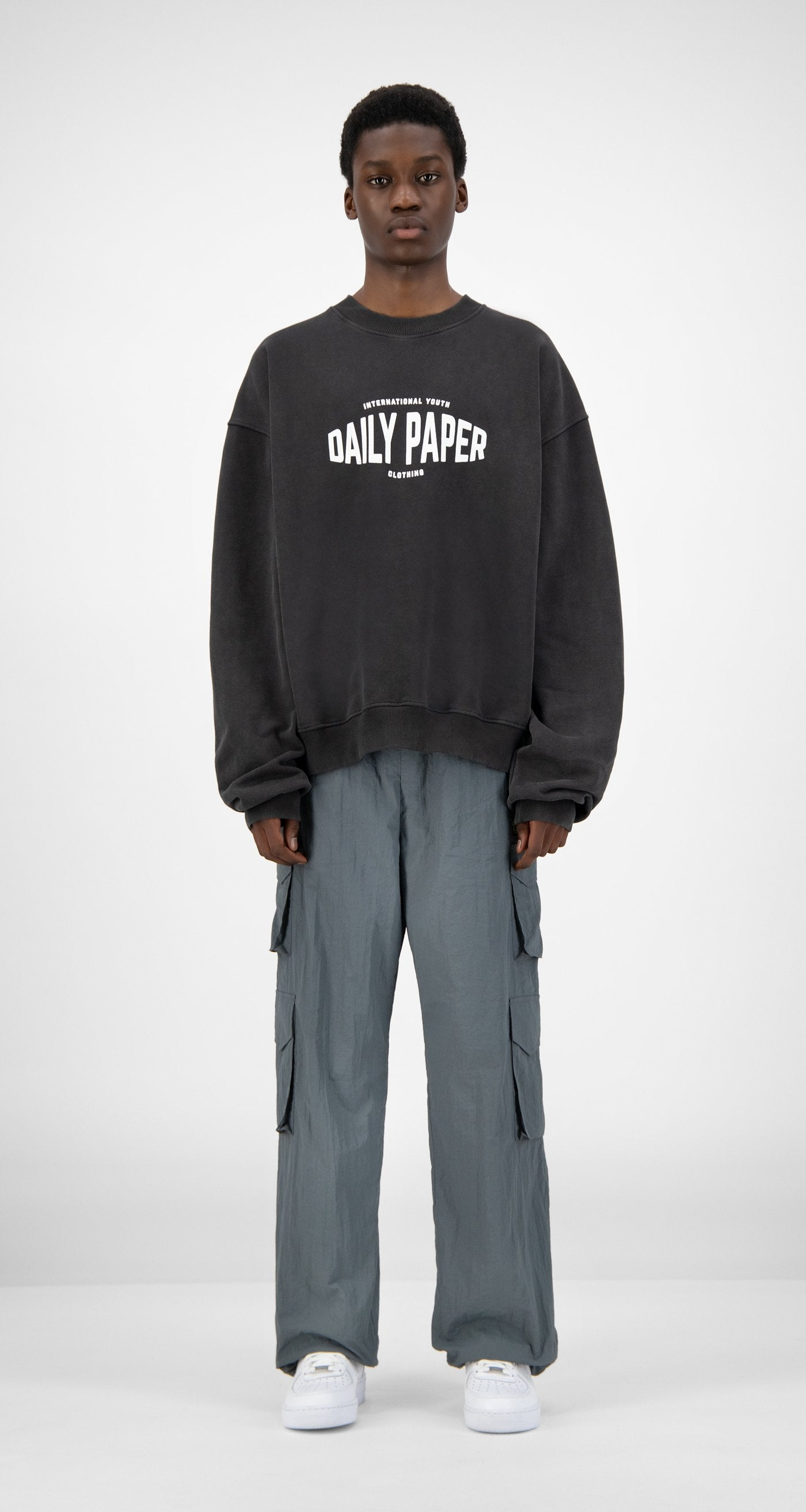 Daily Paper - Black Washed Hoyouth Sweater - Men Front