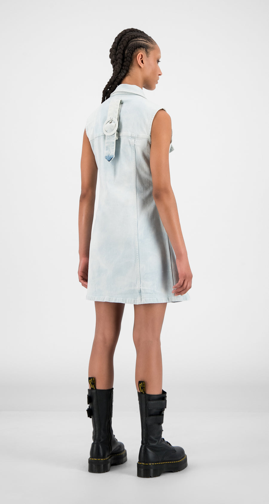 Daily Paper - Bleach Denim Hae Dress - Women Rear