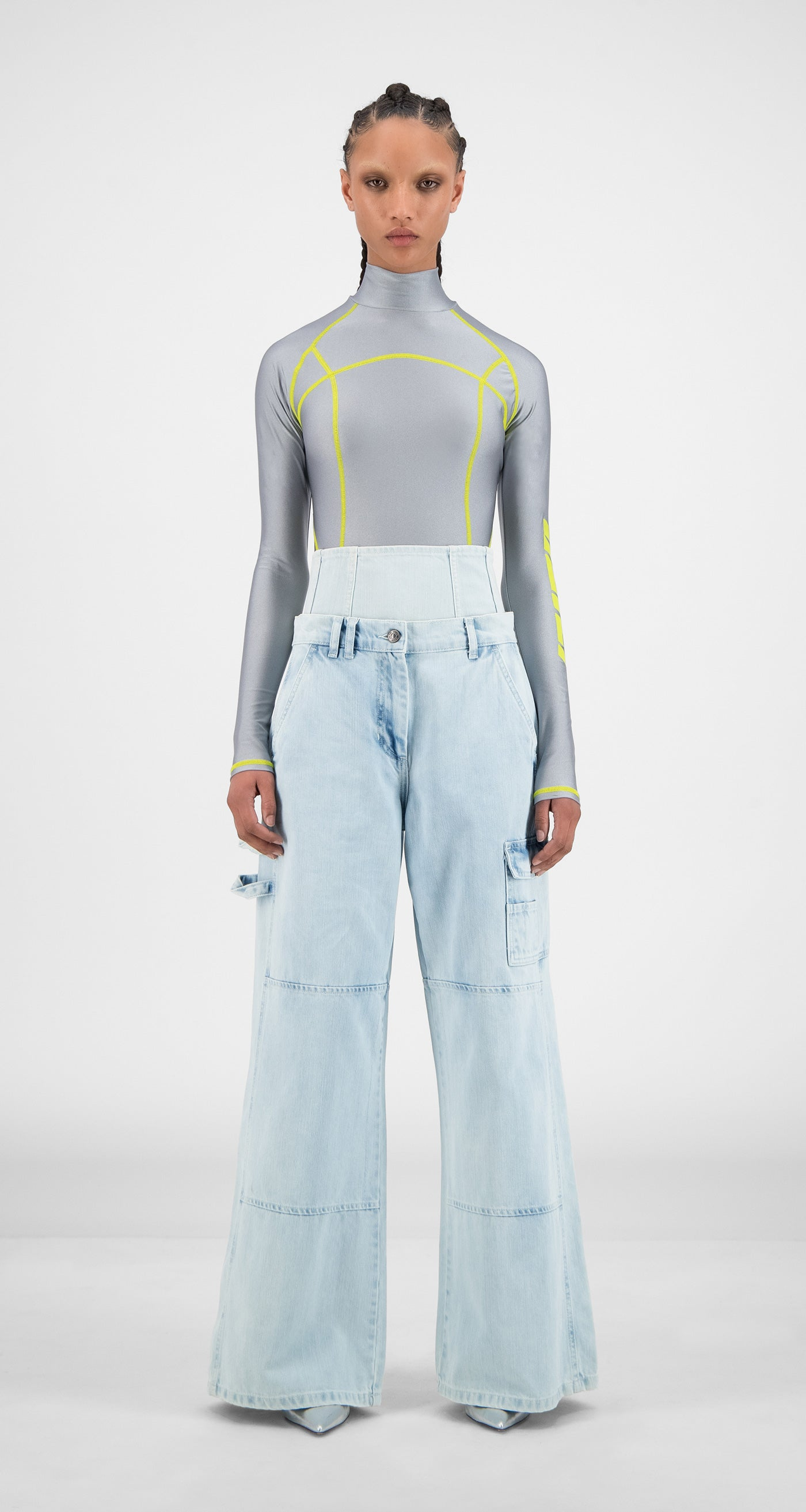 Daily Paper - Bleach Denim Hemma Pants - Women Front