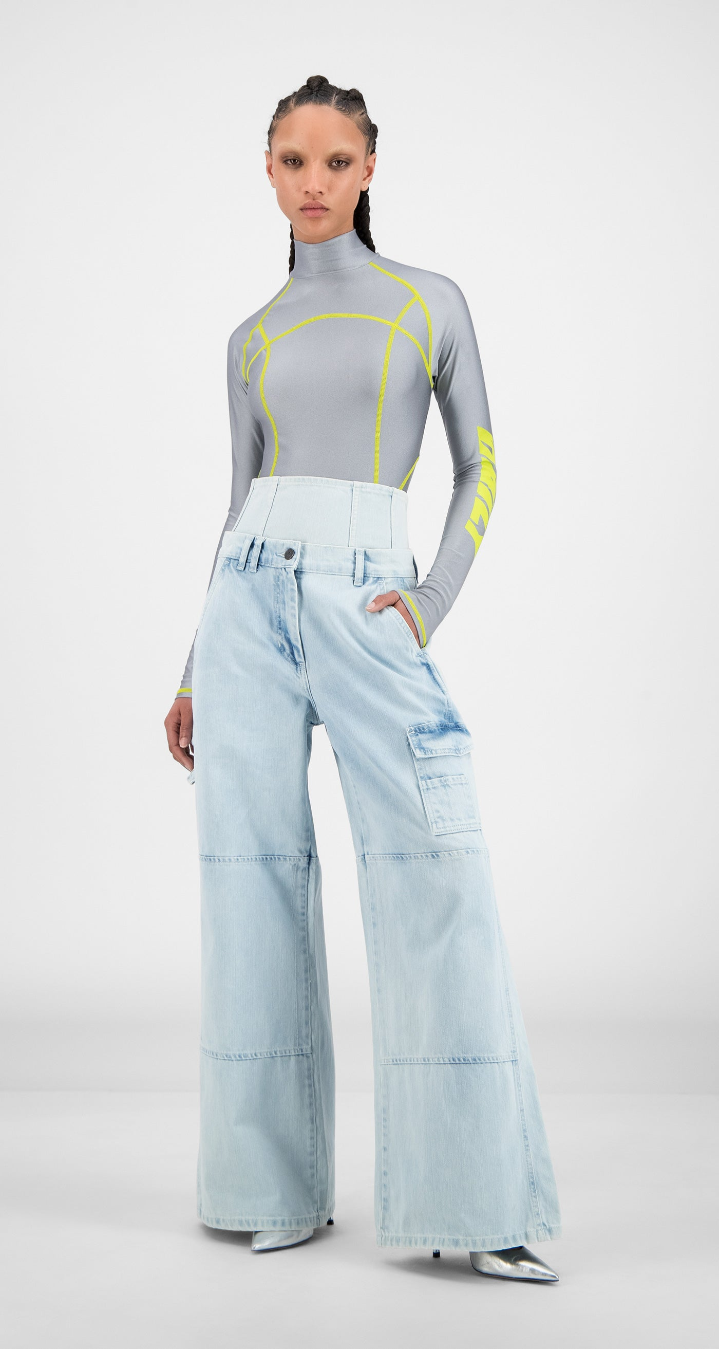 Daily Paper - Bleach Denim Hemma Pants - Women
