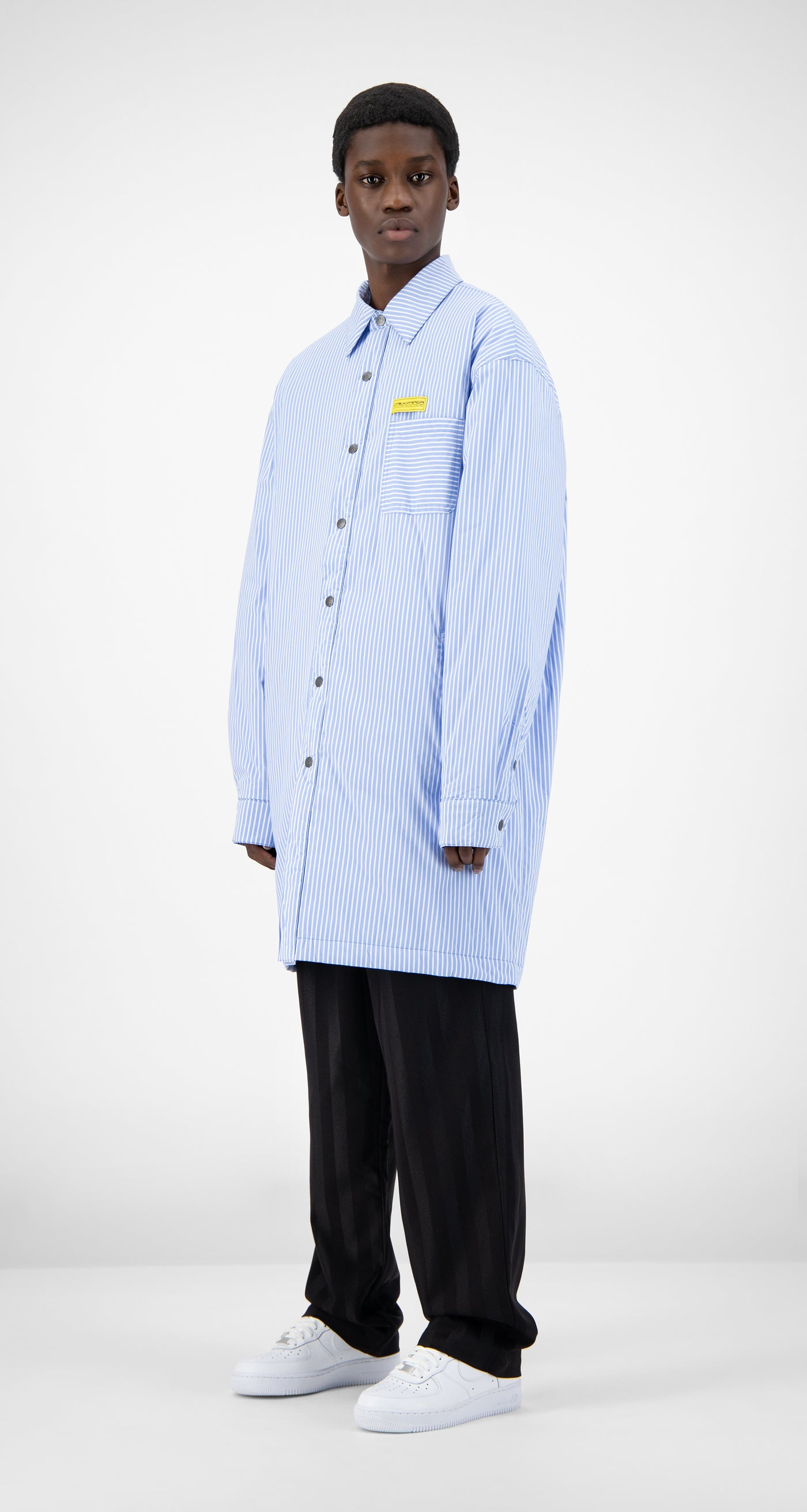 Daily Paper - Blue Striped Jair Padded Shirt - Men