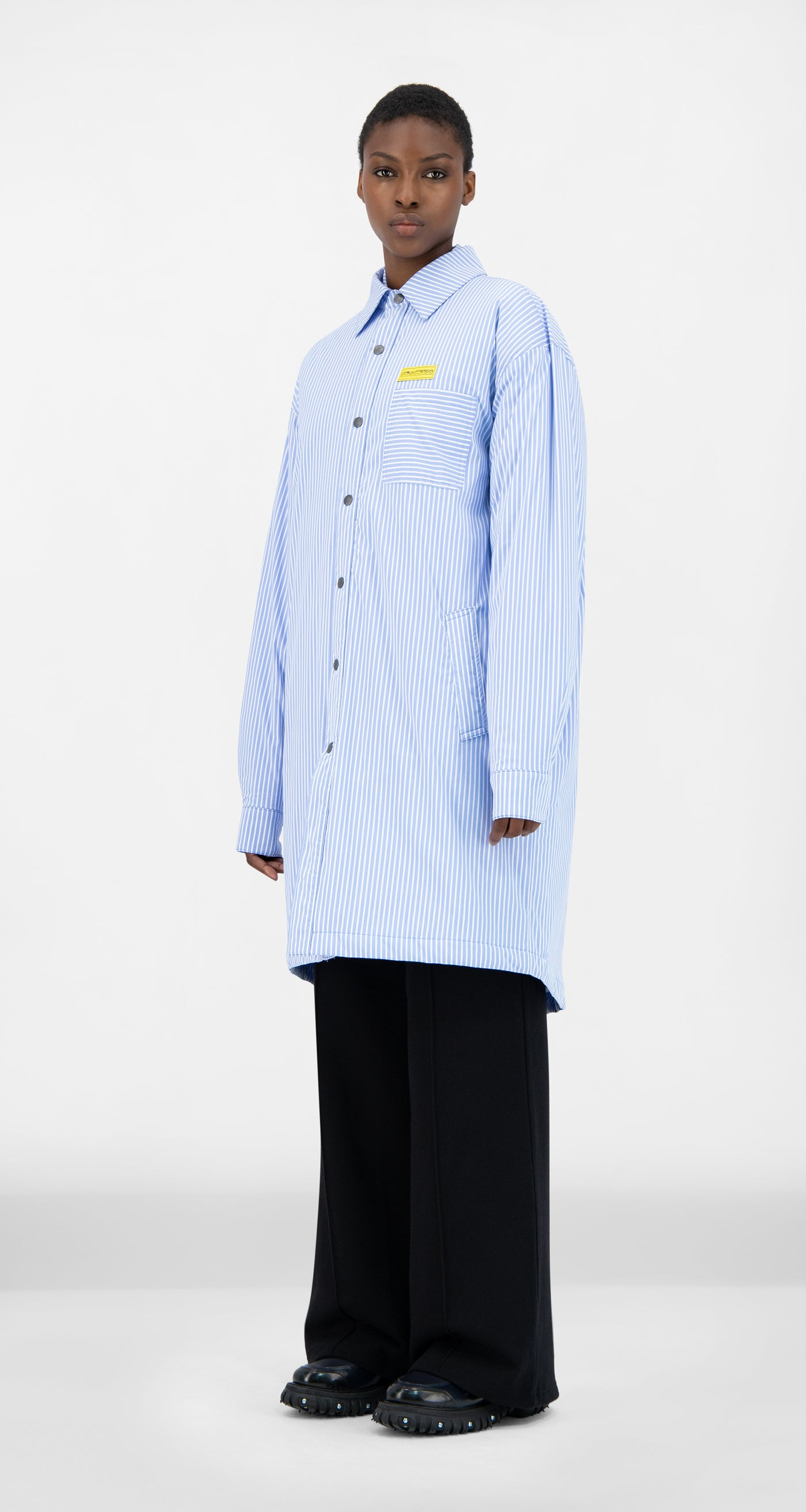 Daily Paper - Blue Striped Jair Padded Shirt - Women