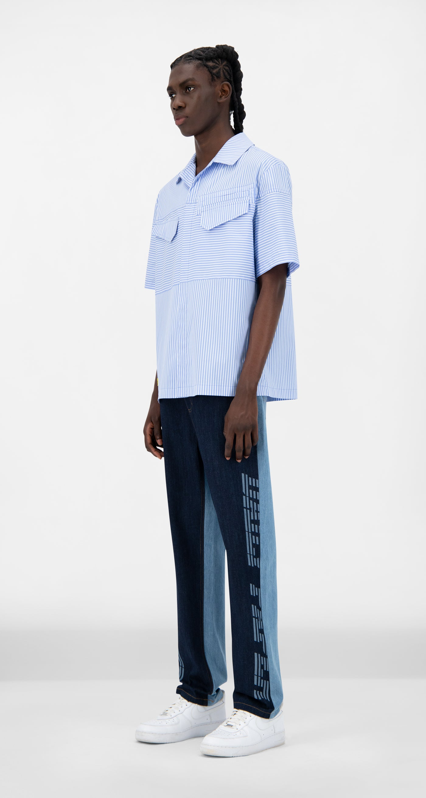 Daily Paper - Blue Striped Jovan Shirt - Men