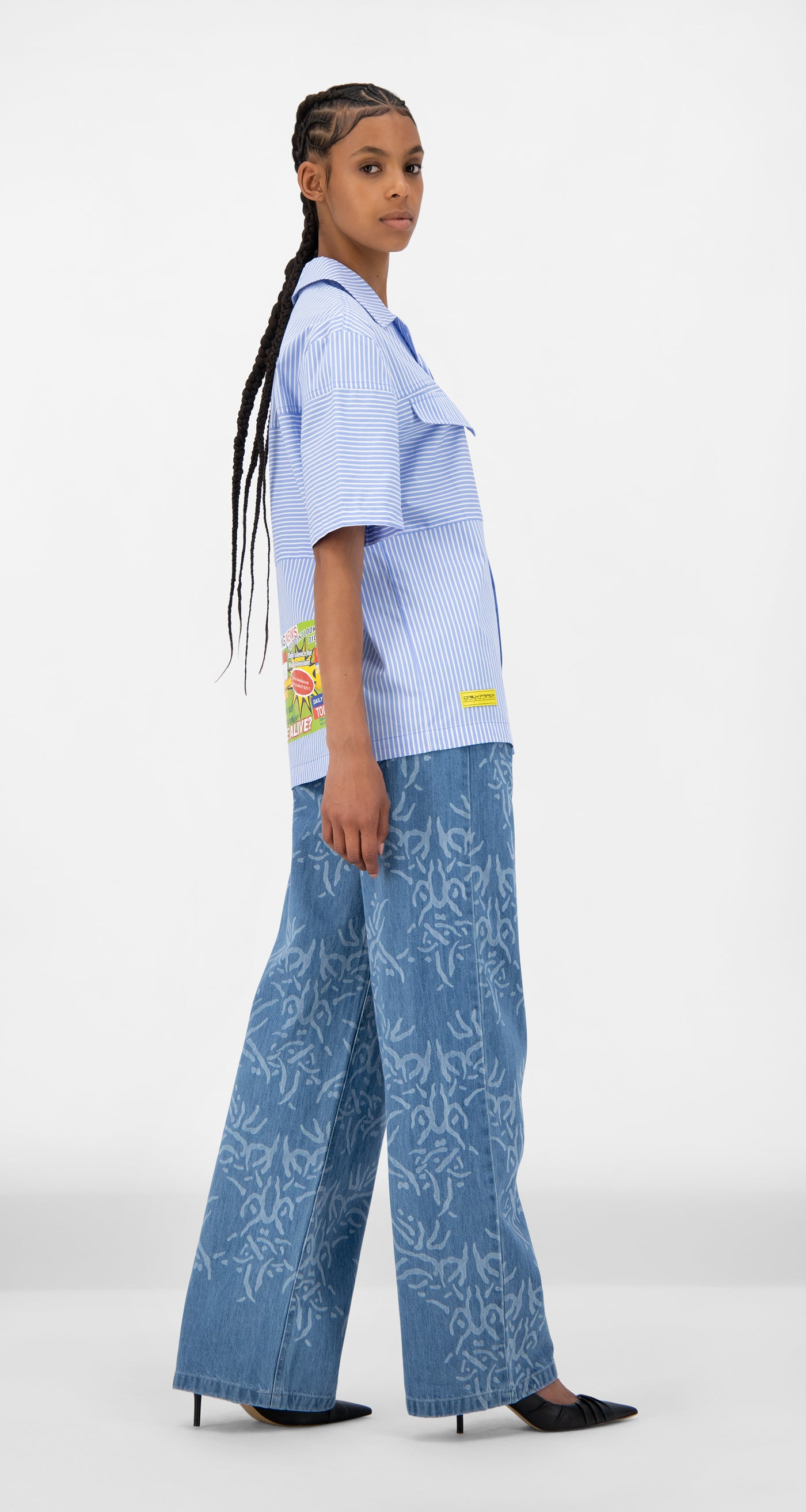 Daily Paper - Blue Striped Jovan Shirt - Women