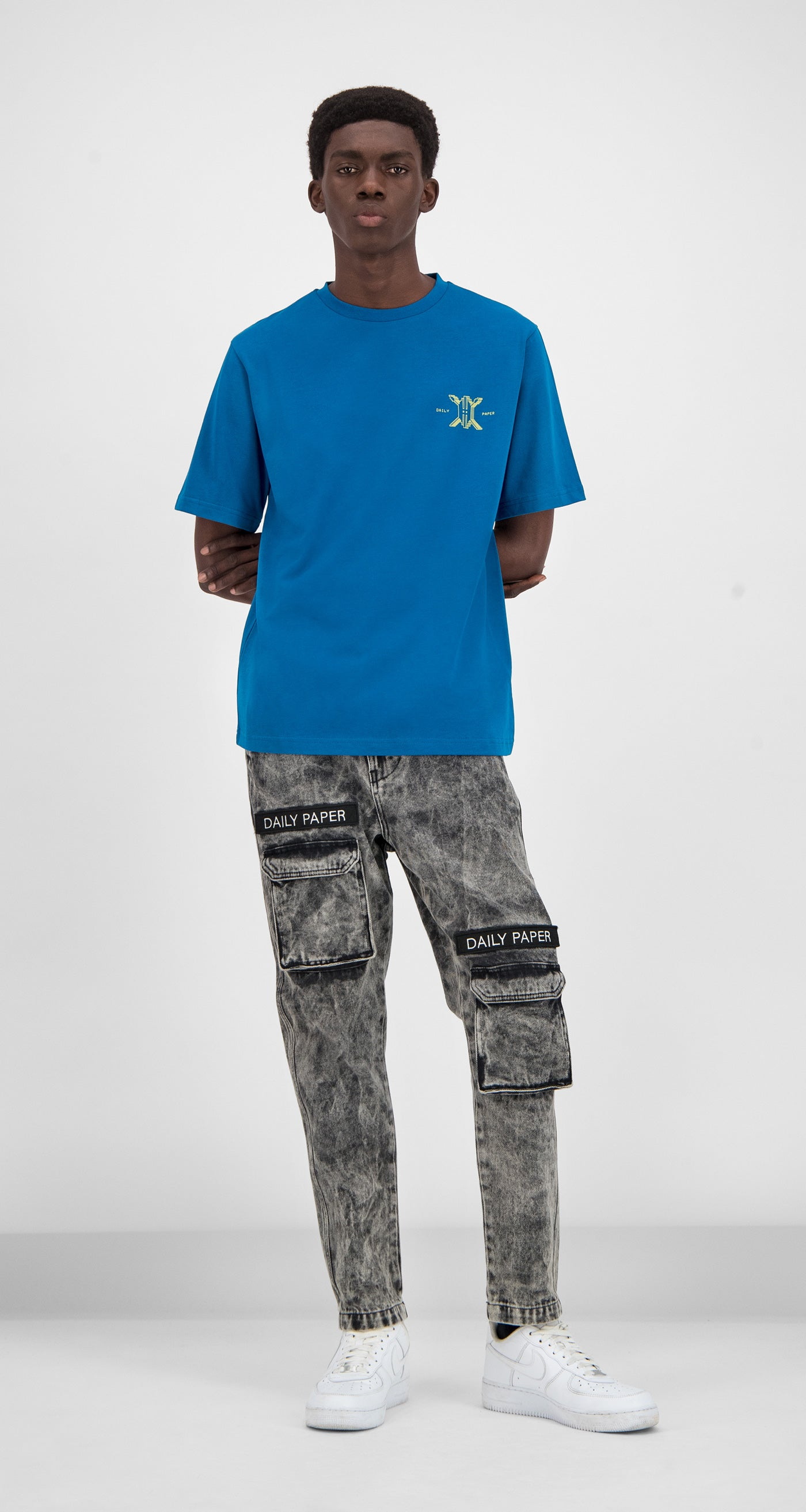 Daily Paper - Blue Gormy T-Shirt Men Front