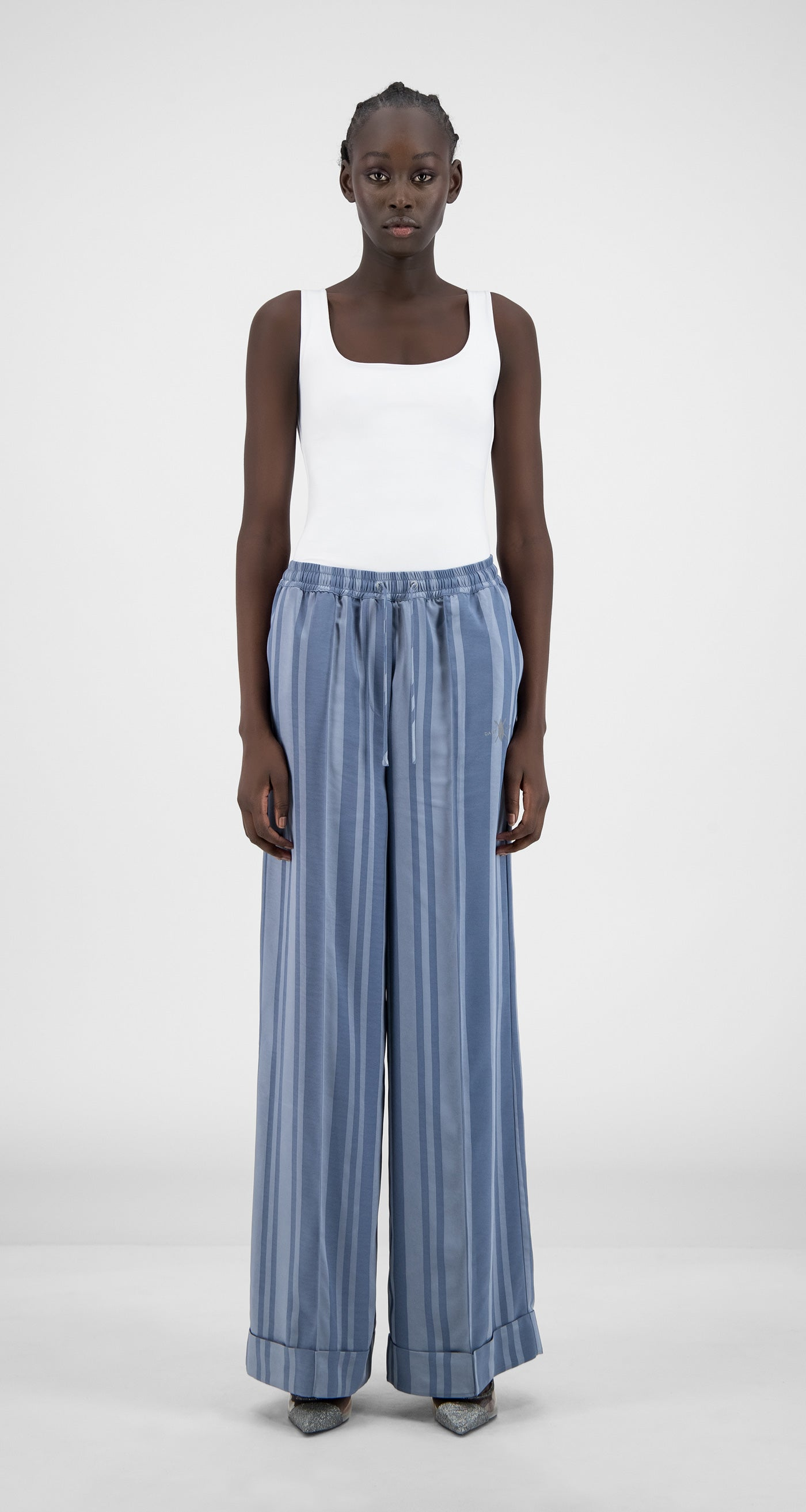 Daily Paper - Blue Stripe Hina Pants - Women Front