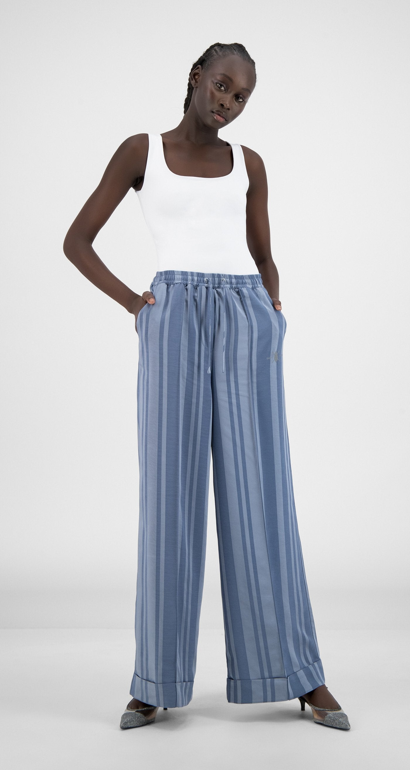 Daily Paper - Blue Stripe Hina Pants - Women