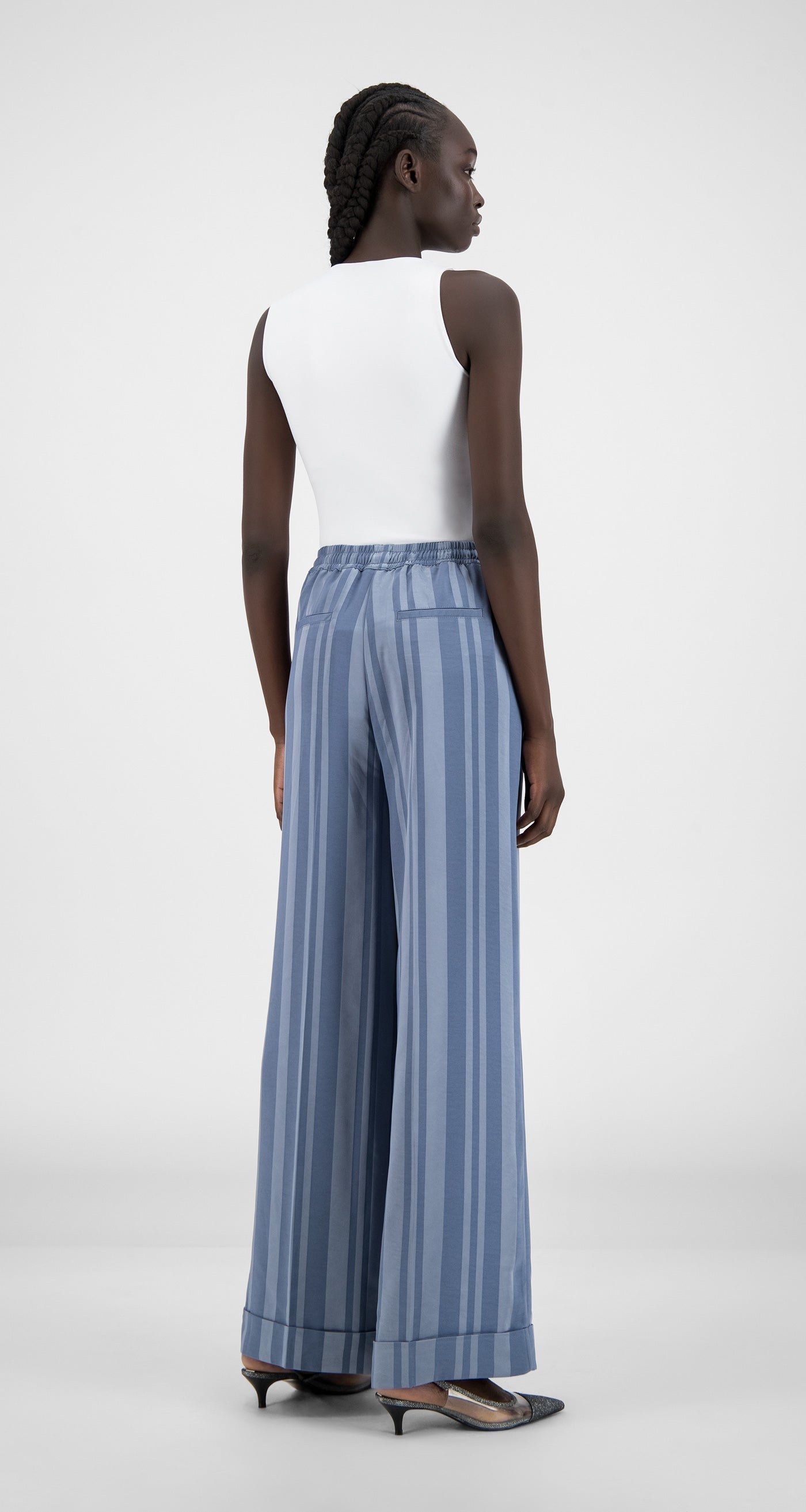 Daily Paper - Blue Stripe Hina Pants - Women Rear