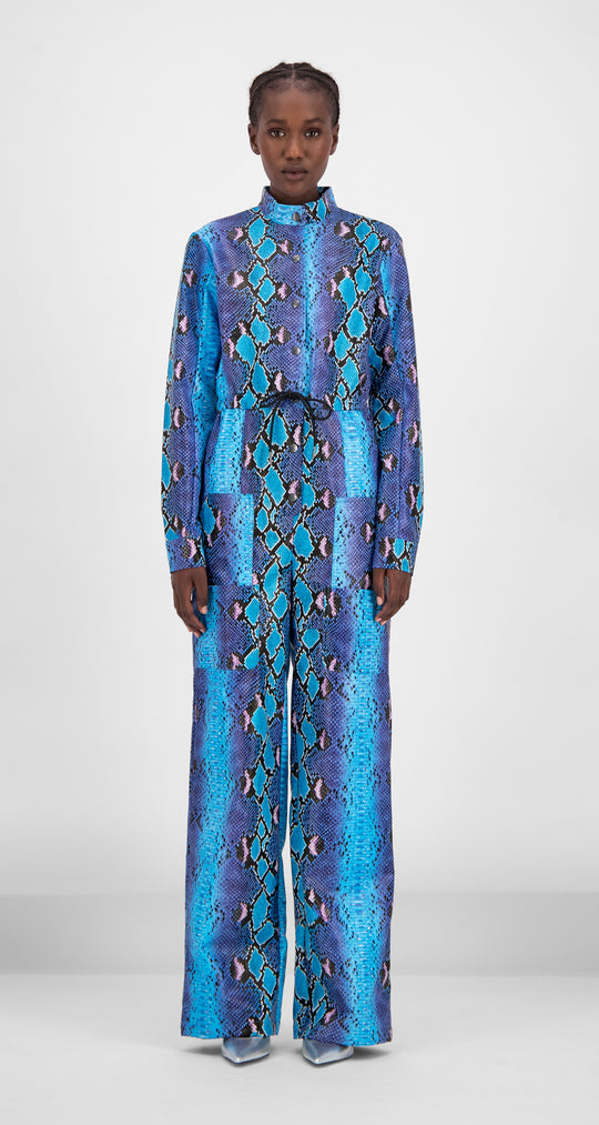 Daily Paper - Blue Snake Gree Jumpsuit Women Front